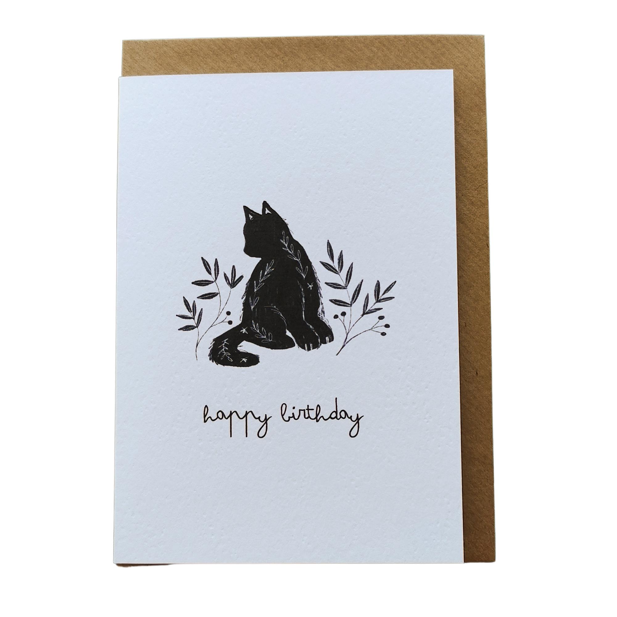 Birthday Cat Card by Juniper Press