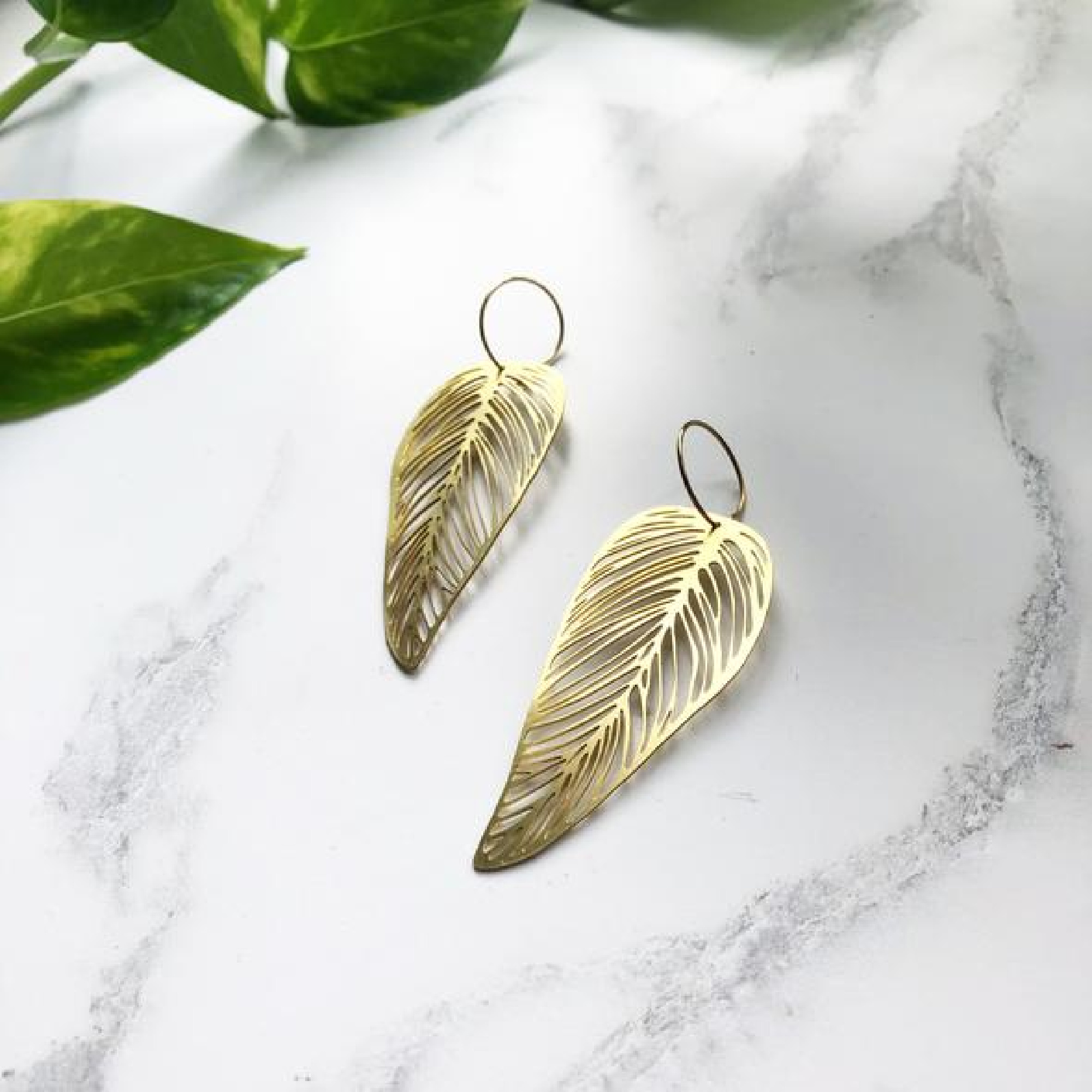 Leaf Earrings by Mica Peet