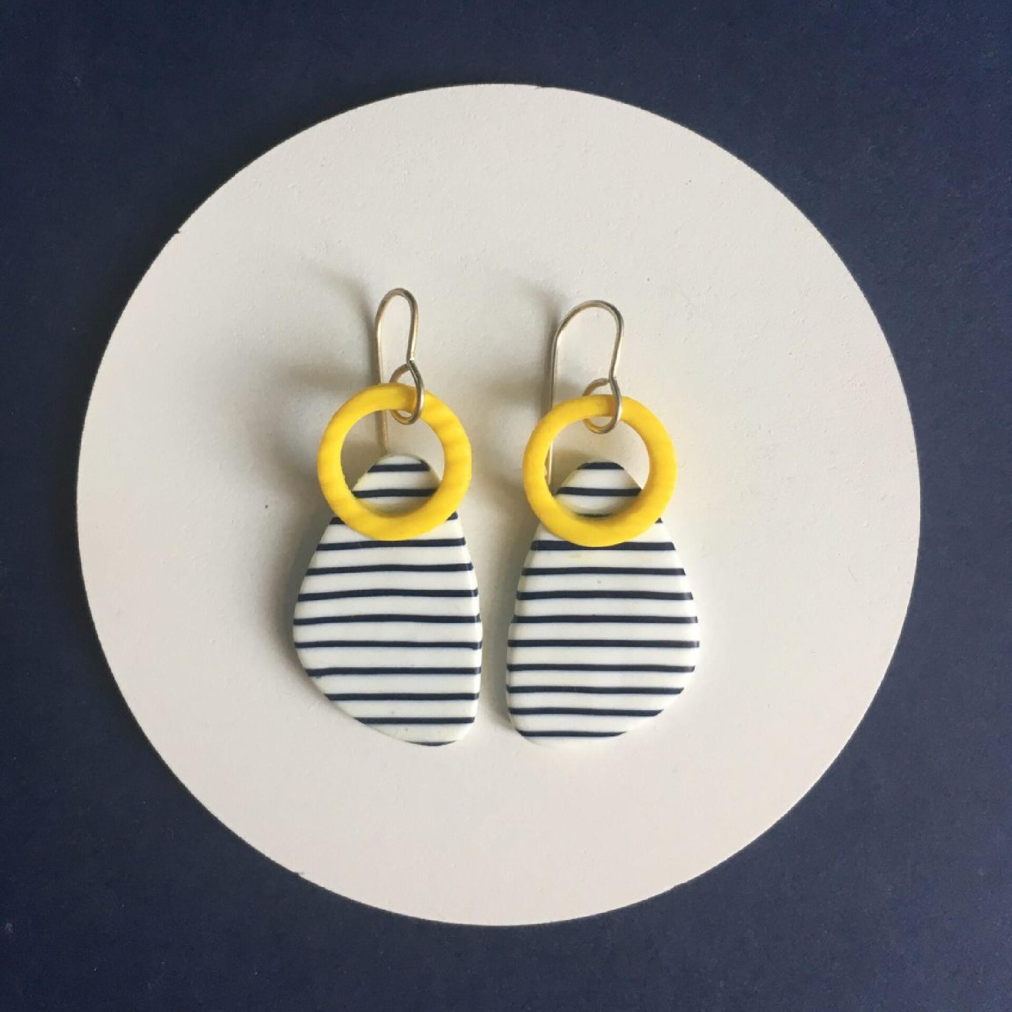 Quimper Breton Earrings by Nadege Honey