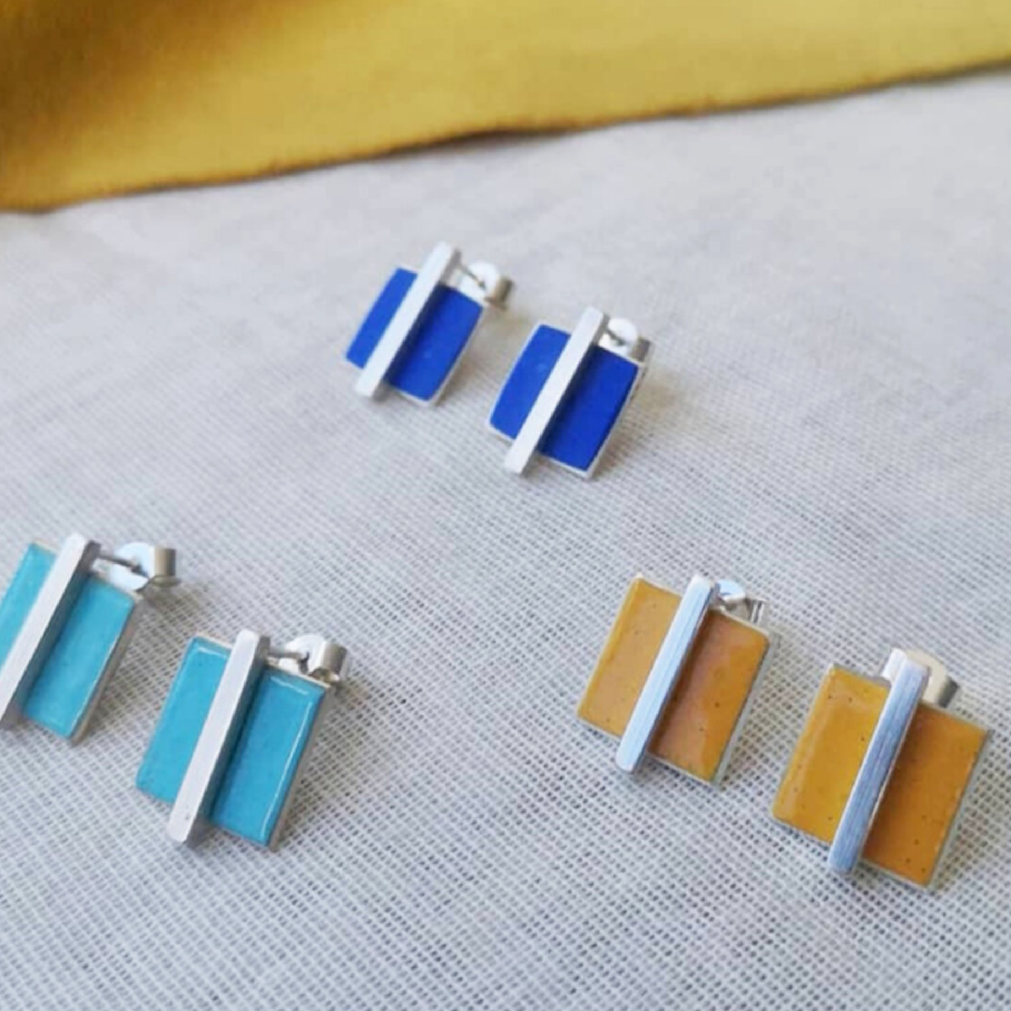 Square and Bar Earrings by Smith and Gibb