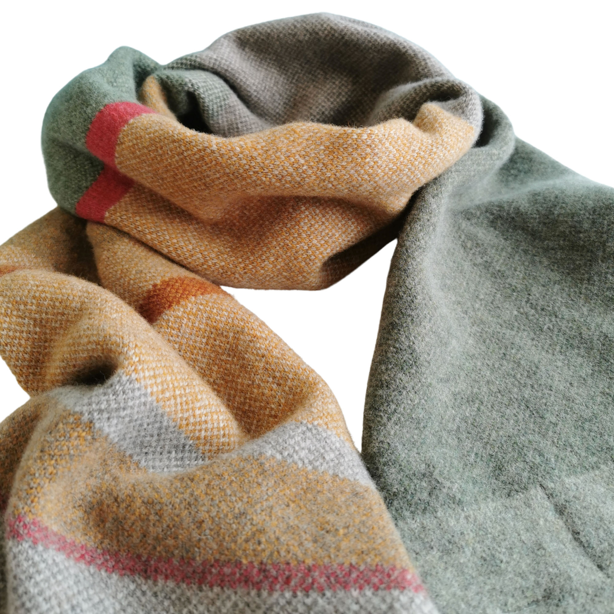 Sandstone Lambswool Scarf by Louise Wedderburn