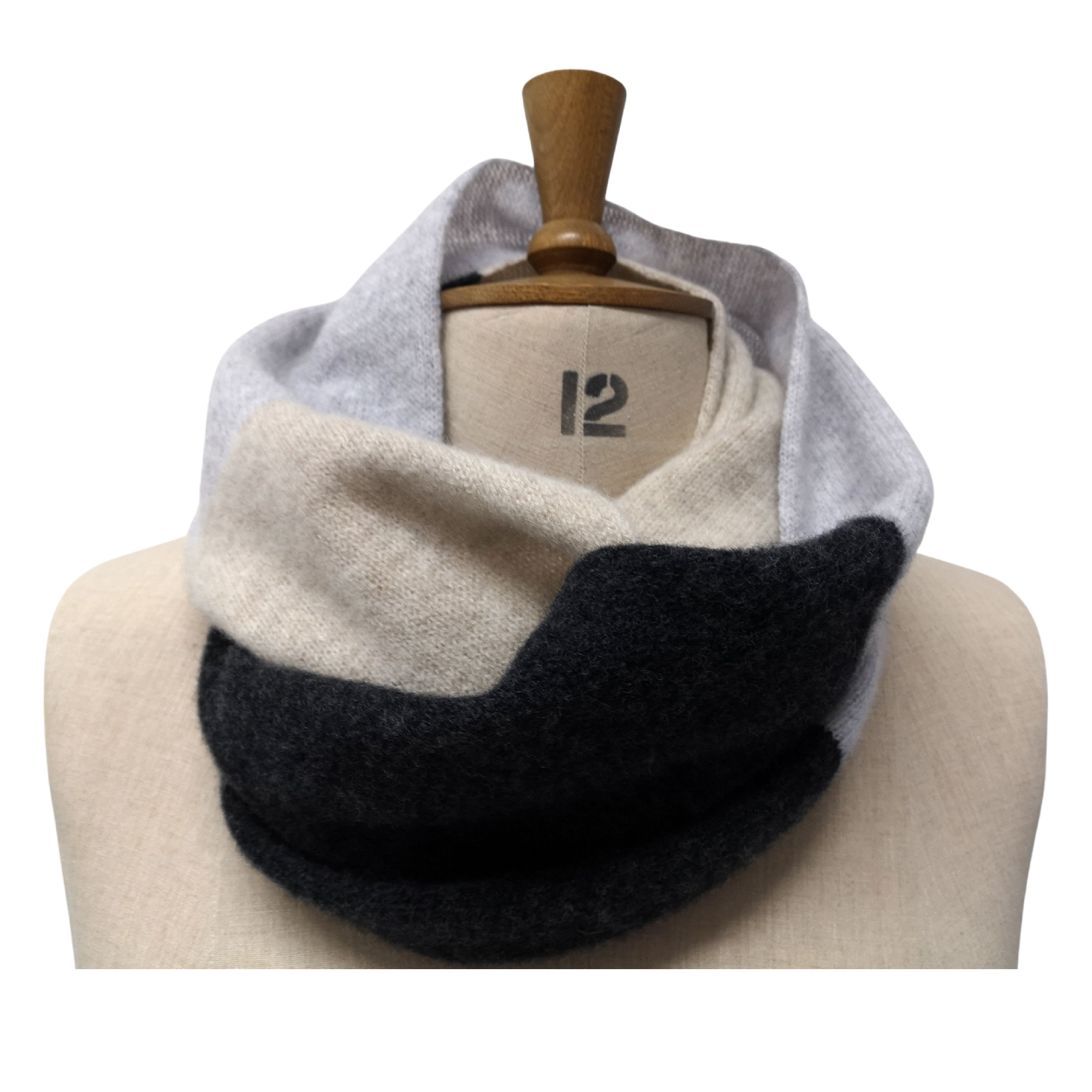 3 Colour Block Double Snood by Lyndsey Currie