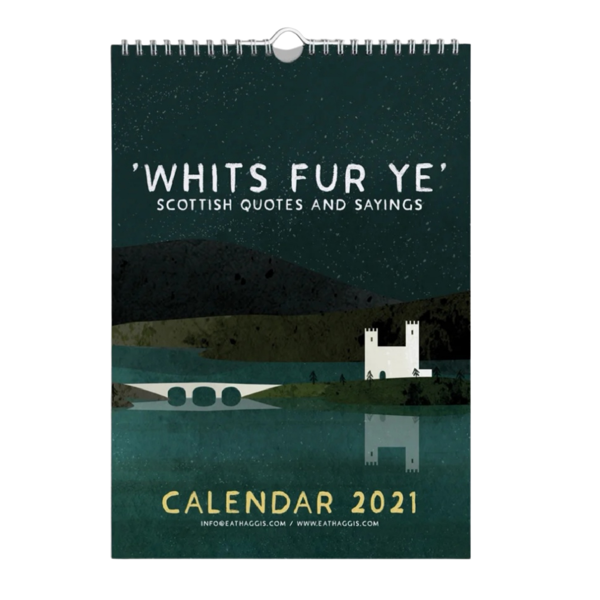 """Whits Fur Ye"" Scottish Quotes 2021 Calender"