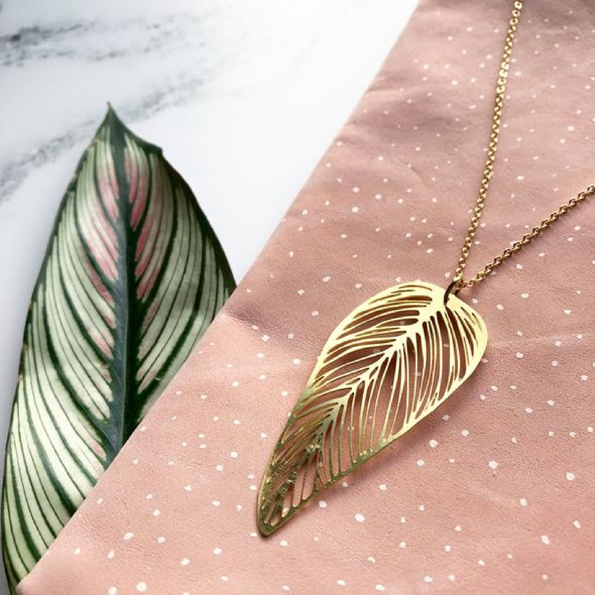 Leaf Necklace by Mica Peet