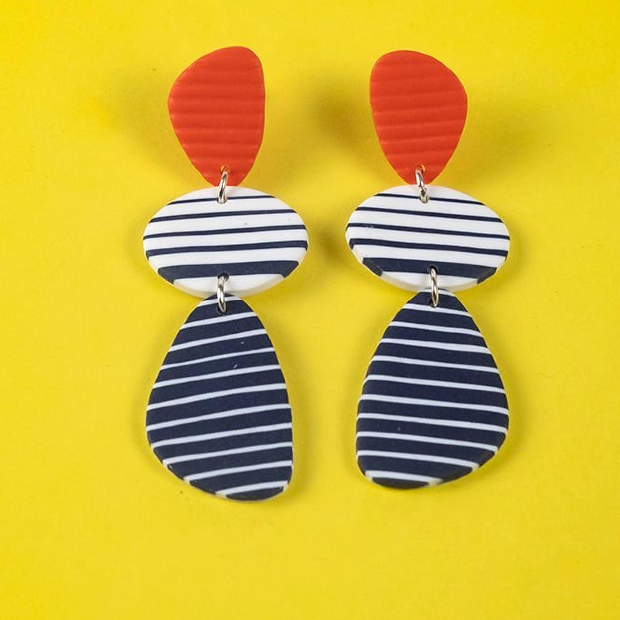 Le Croisic Breton Earrings by Nadege Honey