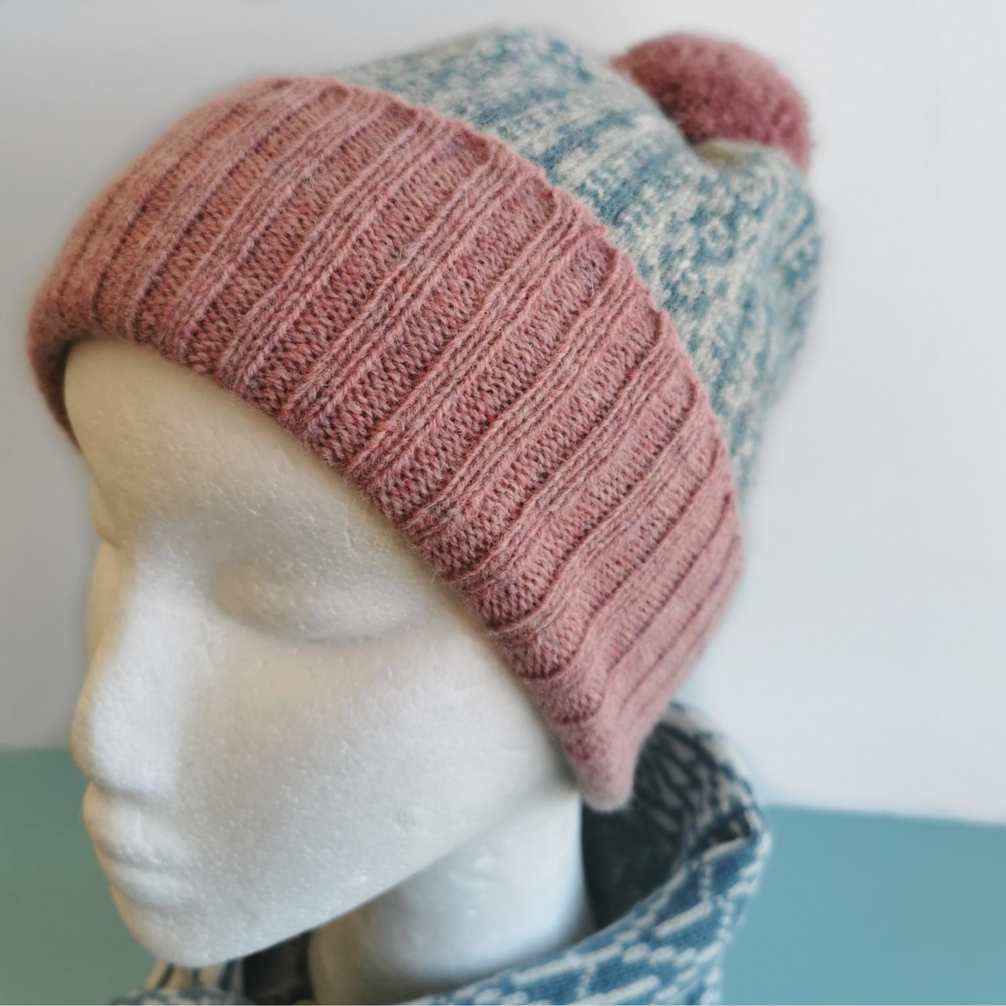 Pom-Pom Pattern Hat by Scarlet Knitwear