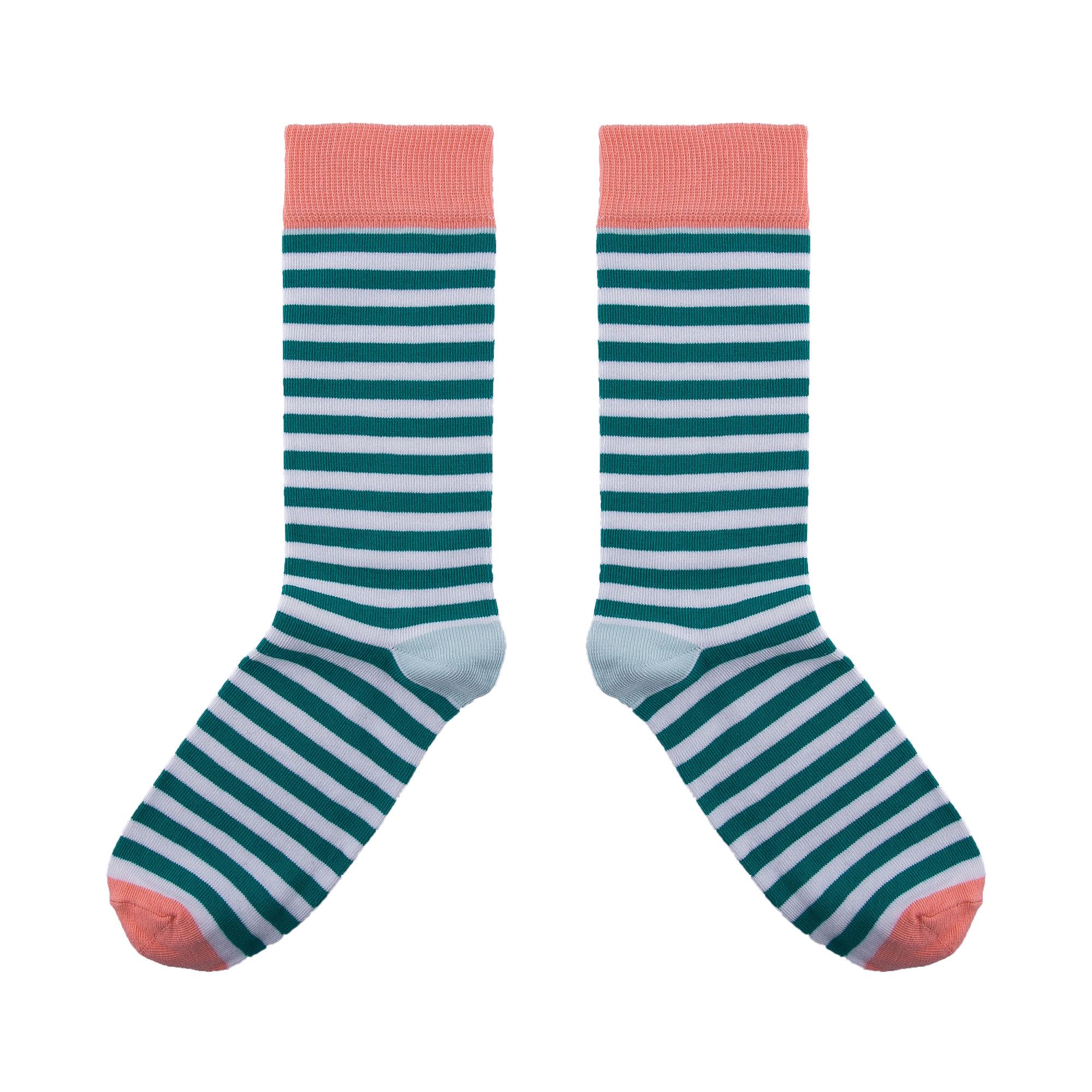 Breton Green Socks UK 3.5-7 7.5-11.5