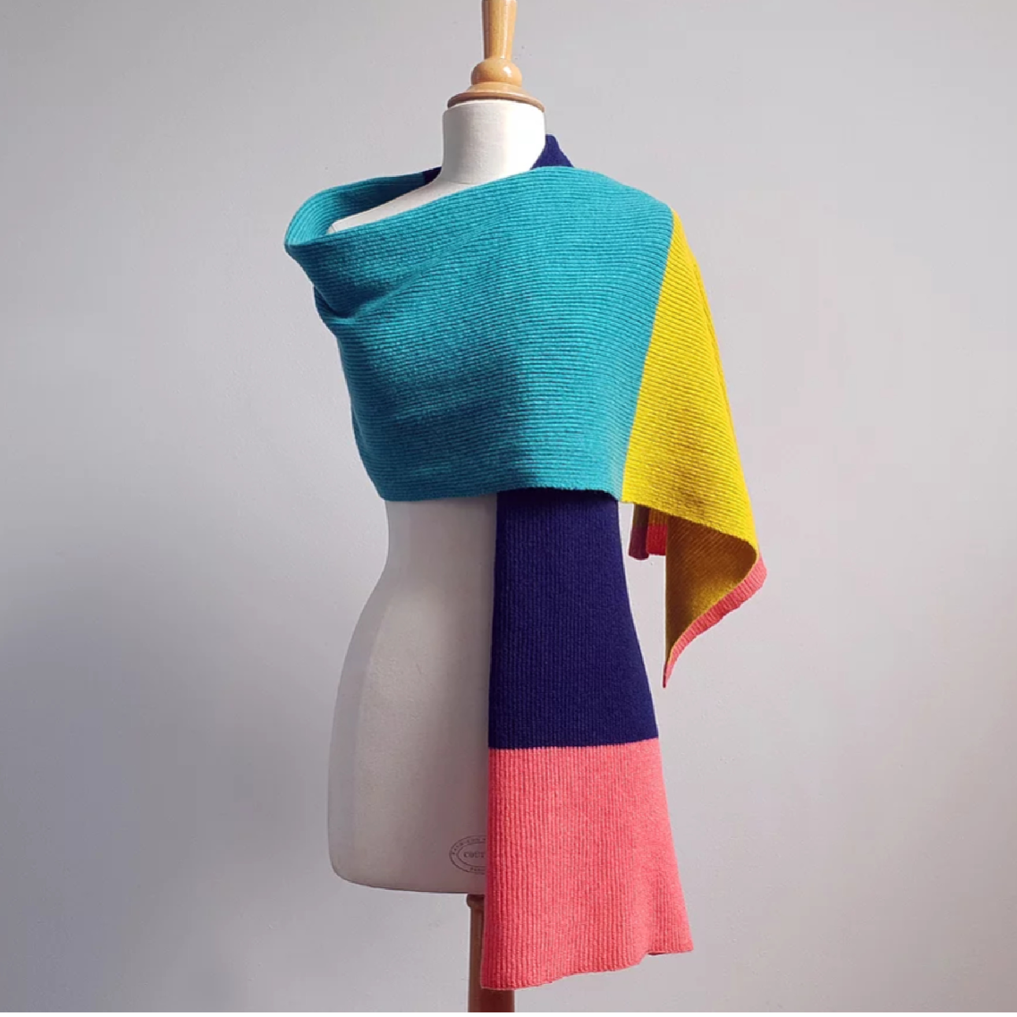 Block Scarf by Candy Coated Knitwear