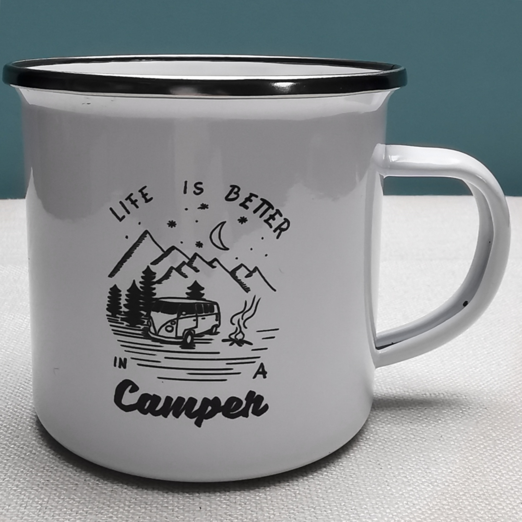 Camper Enamel Mug