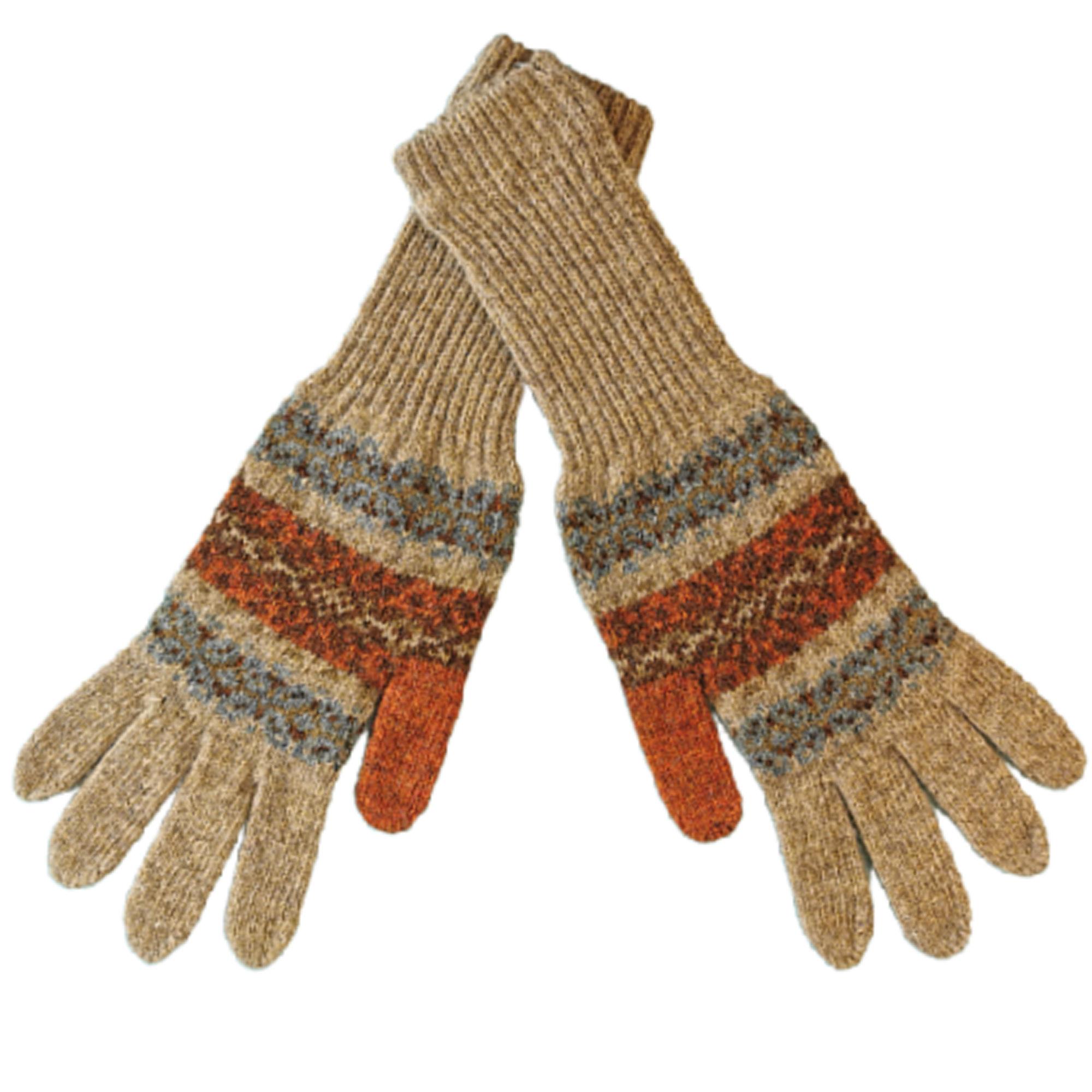 Fair Isle Shetland Wool Gloves by Louise Wedderburn
