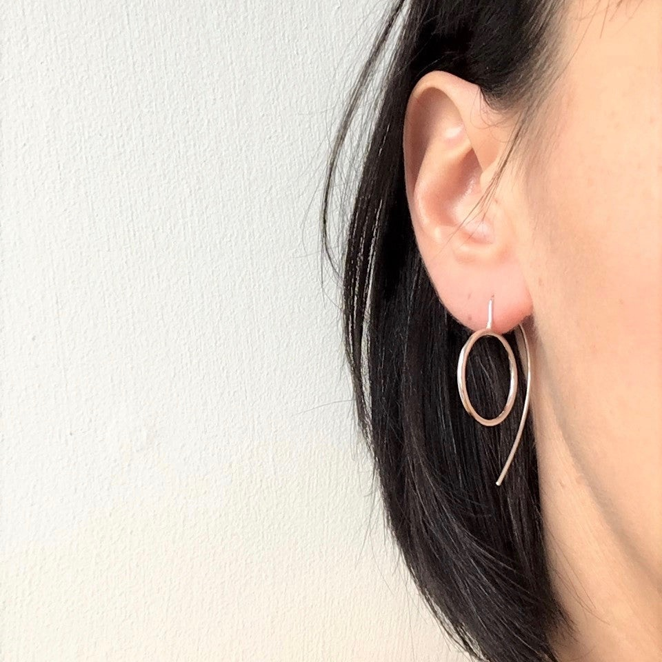 Round Flat Silver Earrings by Claire Lowe