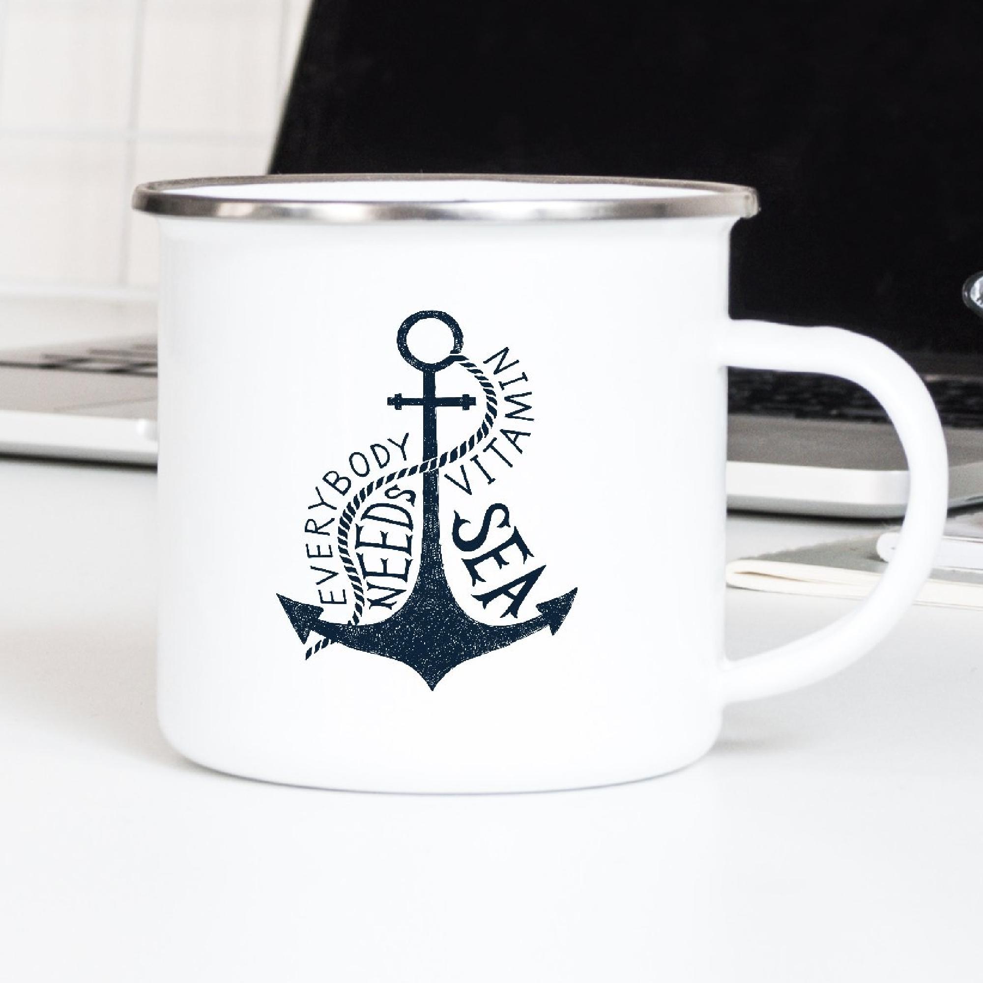 Sea / Nautical Enamel Mugs