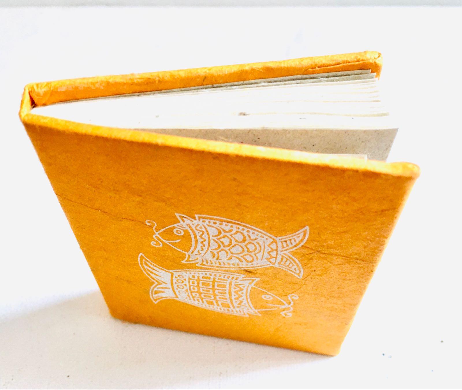 Handmade Orange Notebook