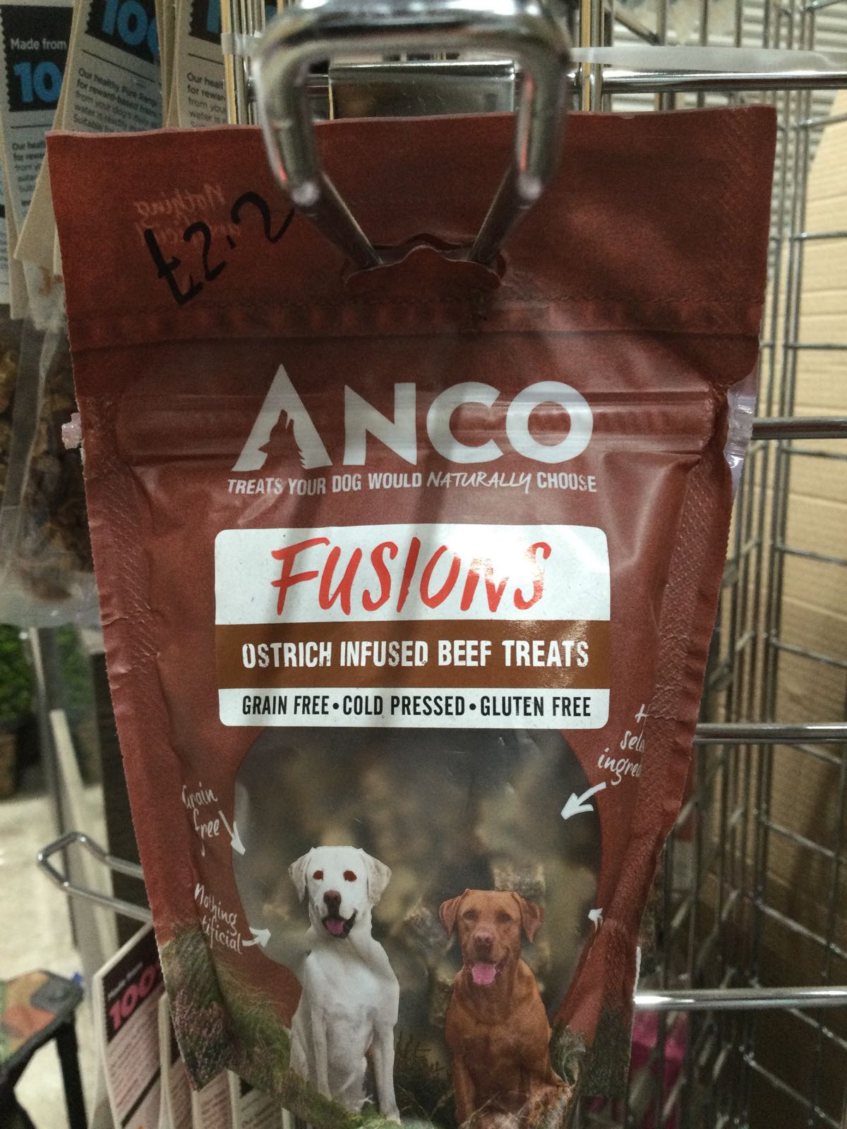 Anco Fusions- Ostrich infused beef treats
