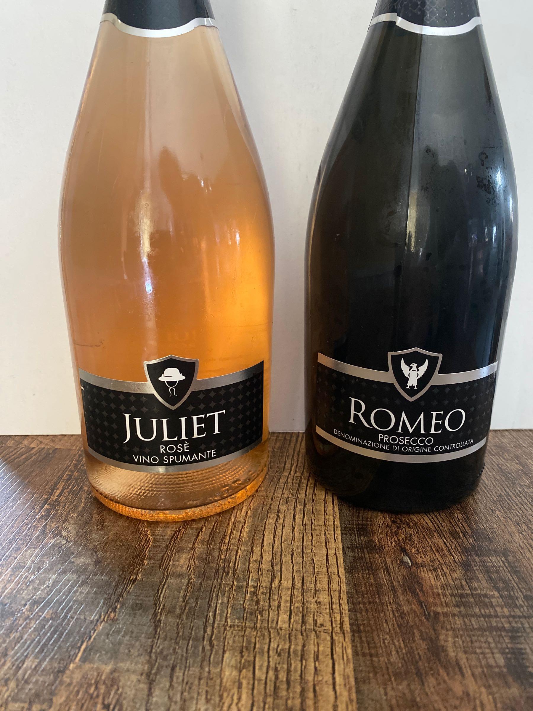 75cl Romeo & Juliet Prosecco Bottle