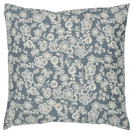 Putetrekk i blå med blomstermønster, IB Laursen