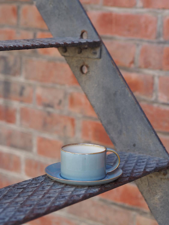 Kaffekopp med hank, Støvet Blå, SERAX
