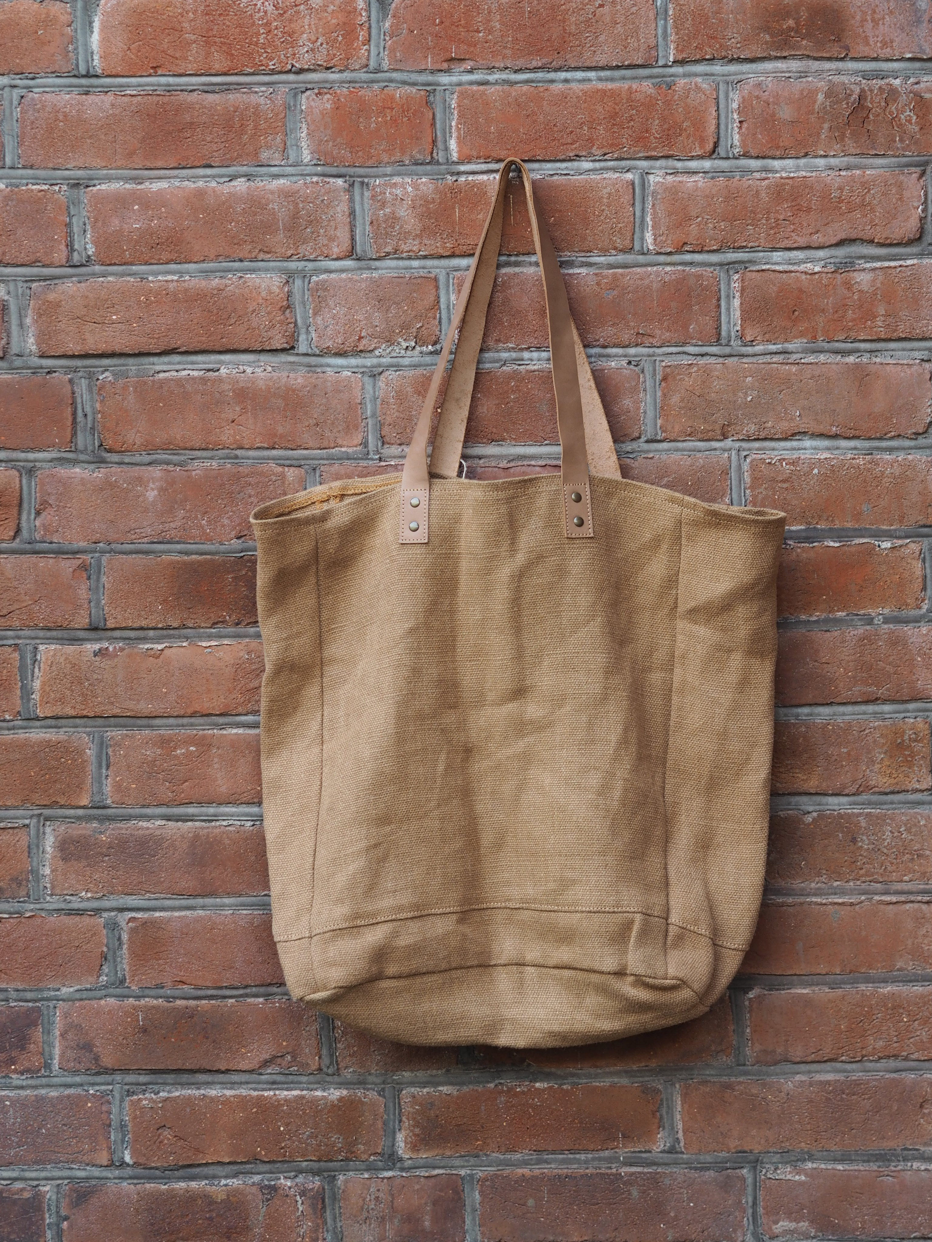 Tote W/Leather Handles - Camel, The Dharma Door