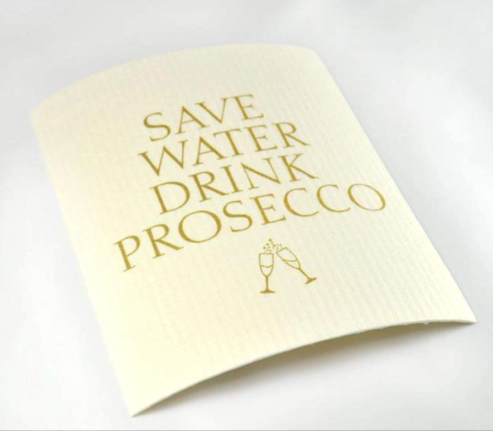 Mellow Design - Disktrasa, Prosecco, vit/guldtext