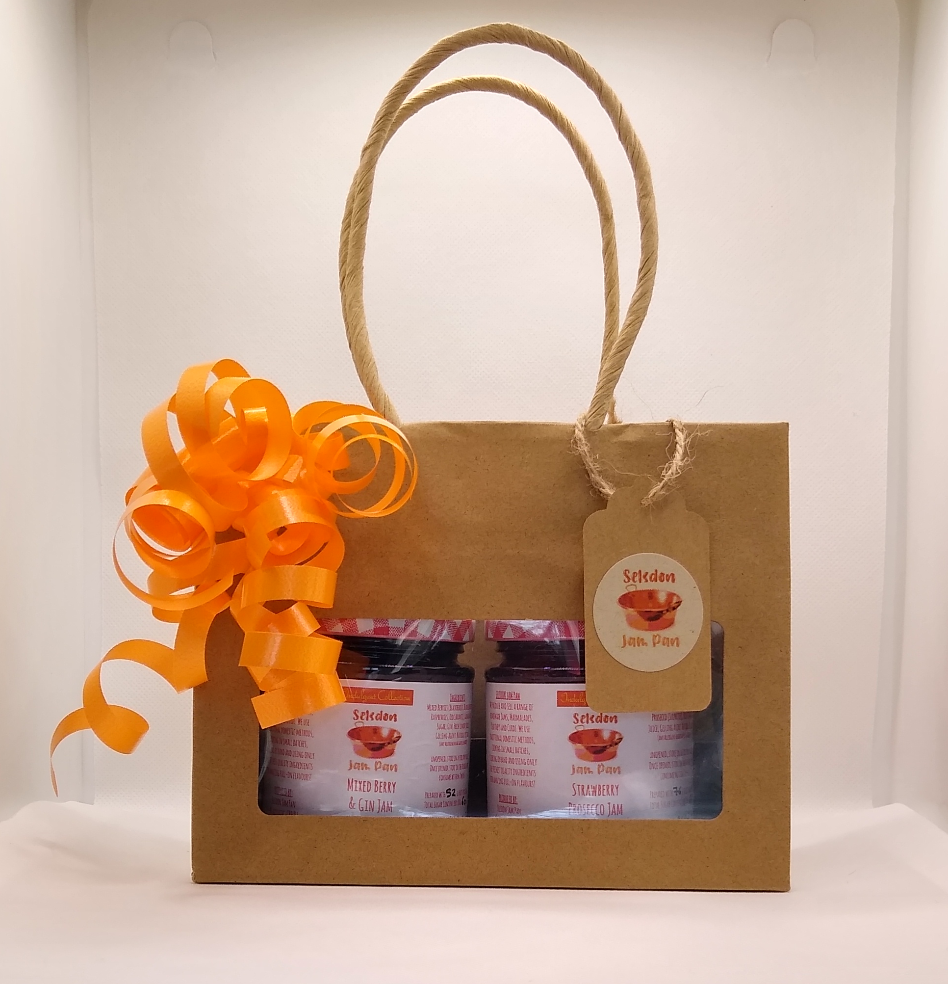 2 x ~200g Jar Gift Bag Set