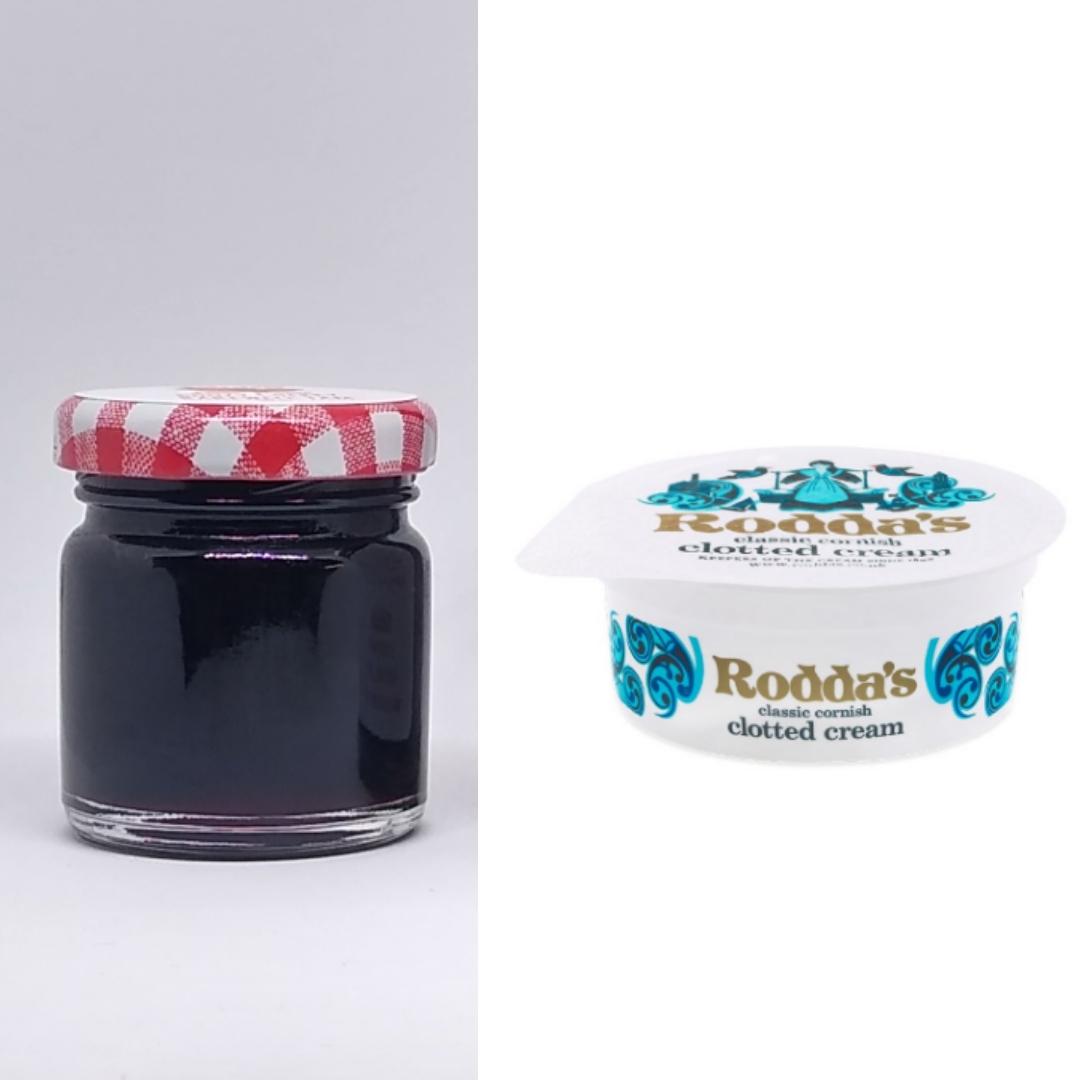 1 x Mini Alcoholic 45g ℮ Jar and 1 x Rodda's 40g Clotted Cream Bundle