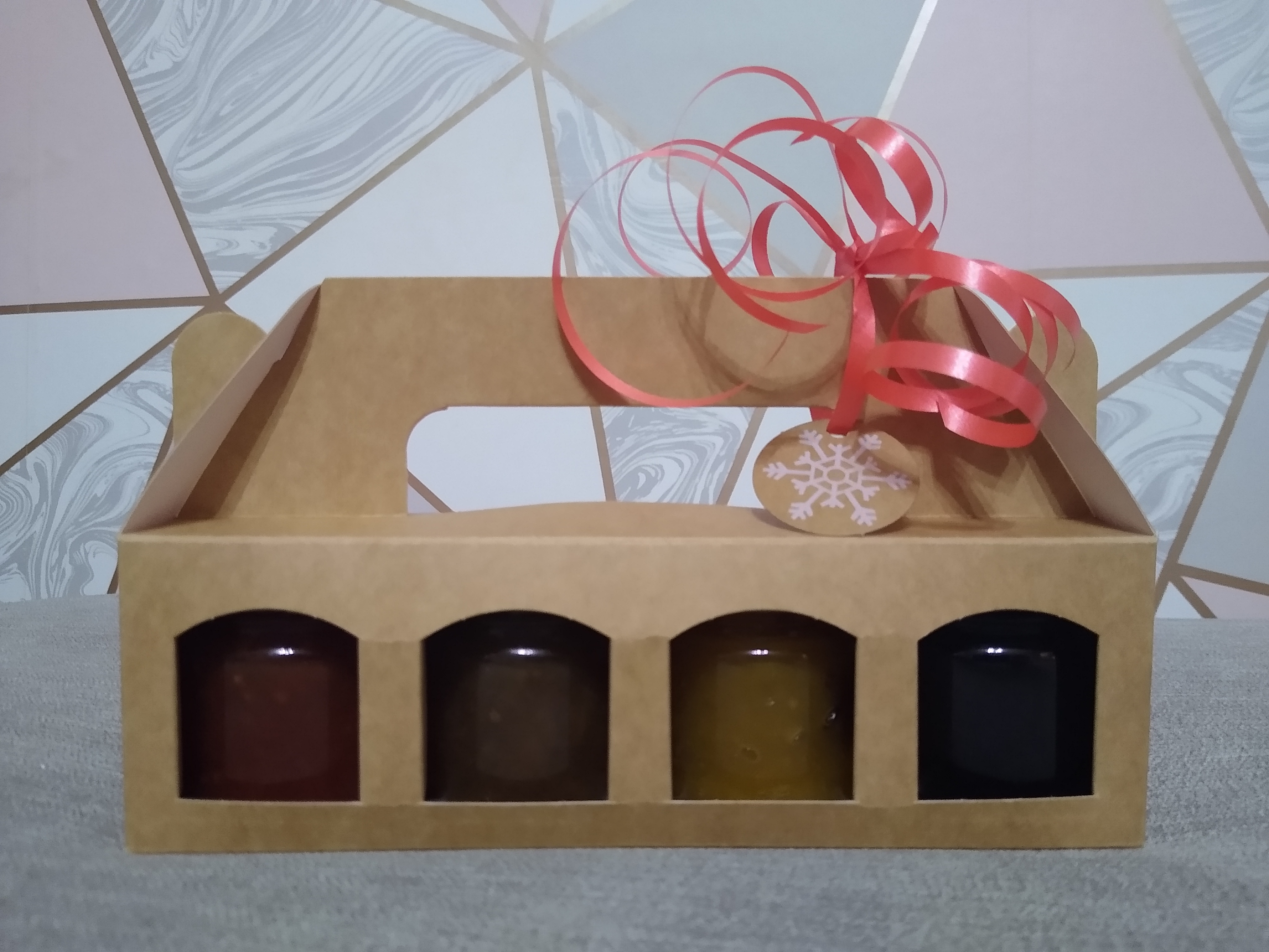 4 x ~50g Mini Jar Christmas Gift Set
