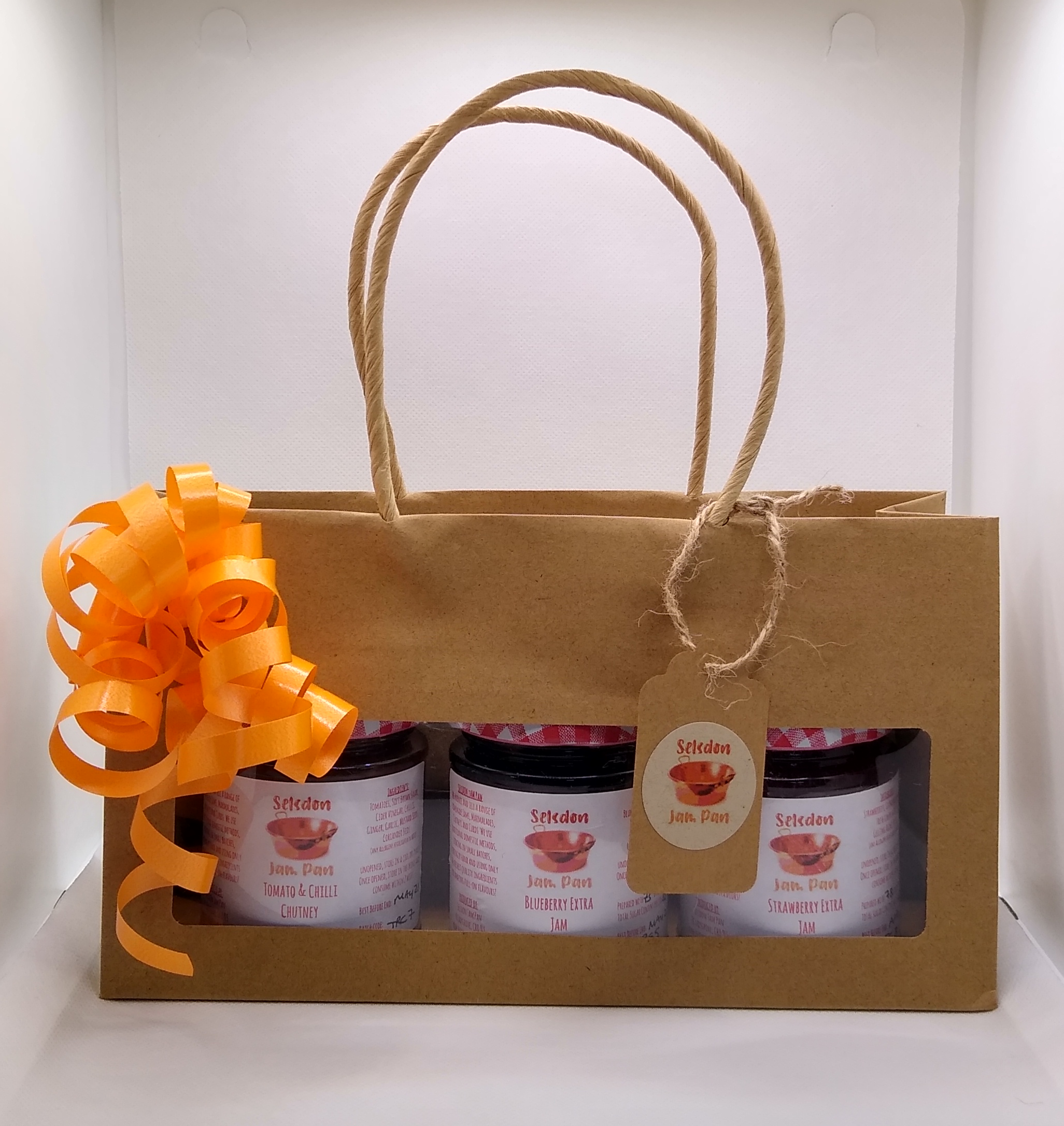 3 x ~200g Jar Gift Bag Set