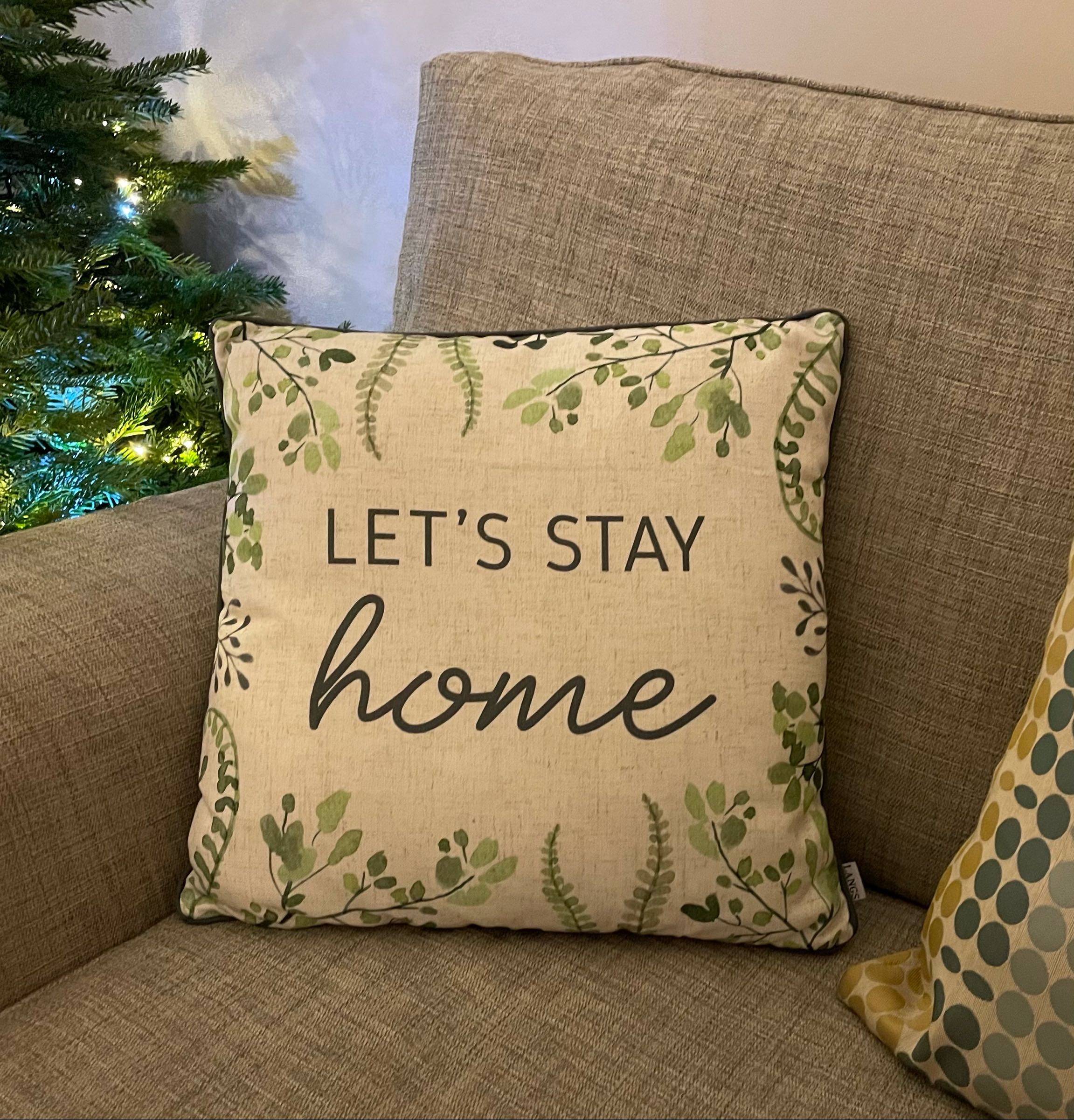 Let's stay home cushion