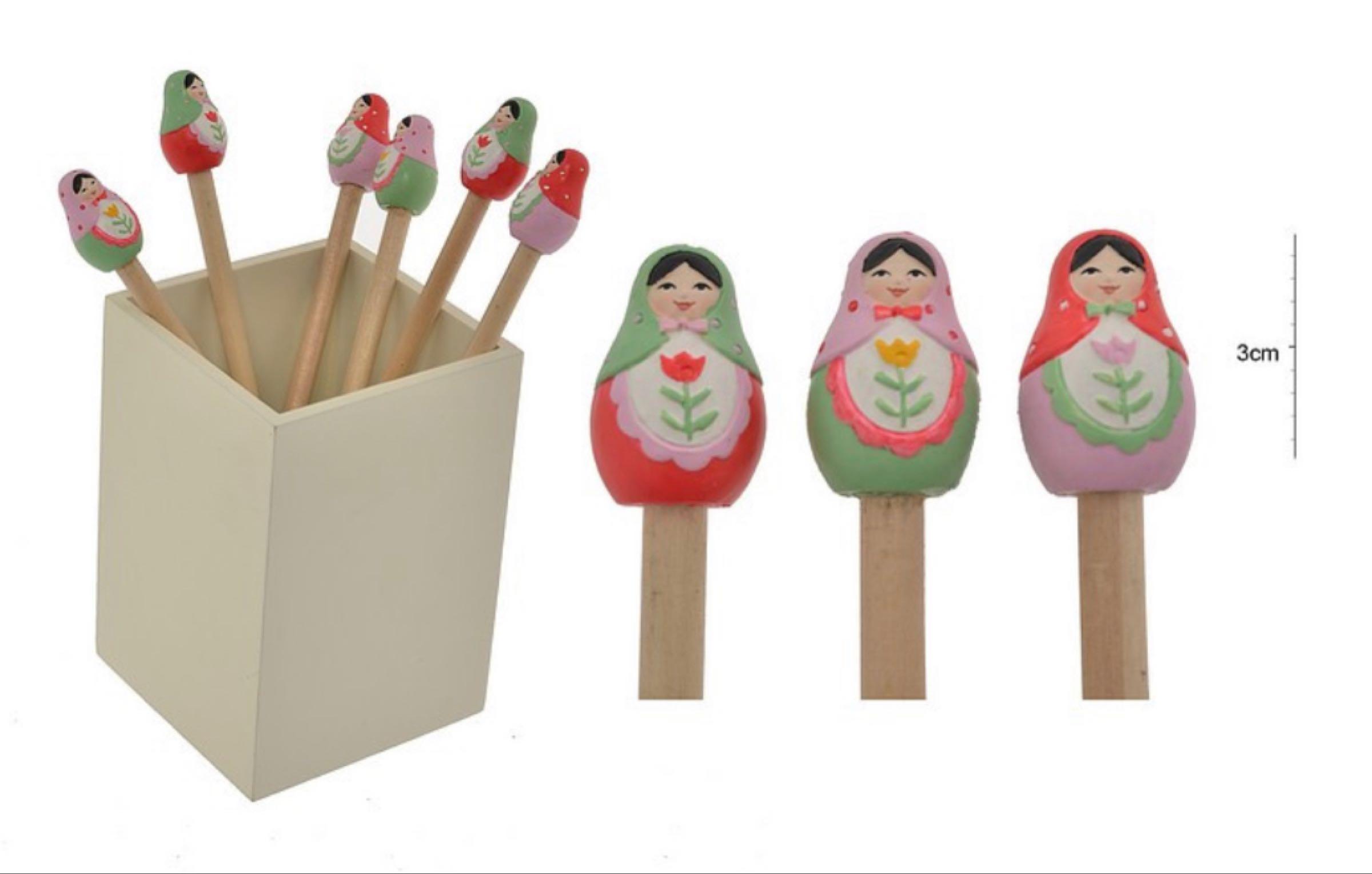 Russian doll pencil top