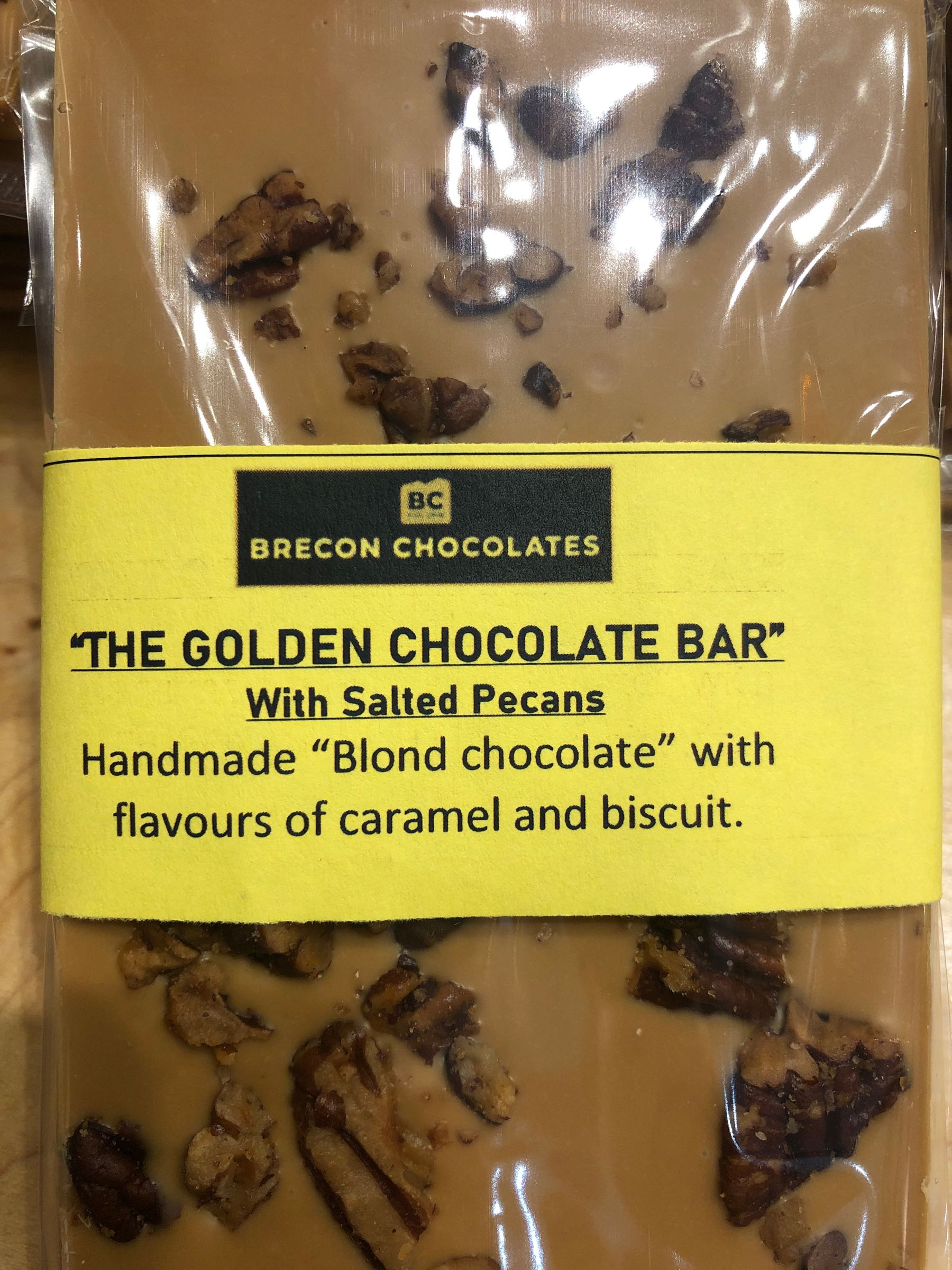 The Golden bar with salted Pecans.