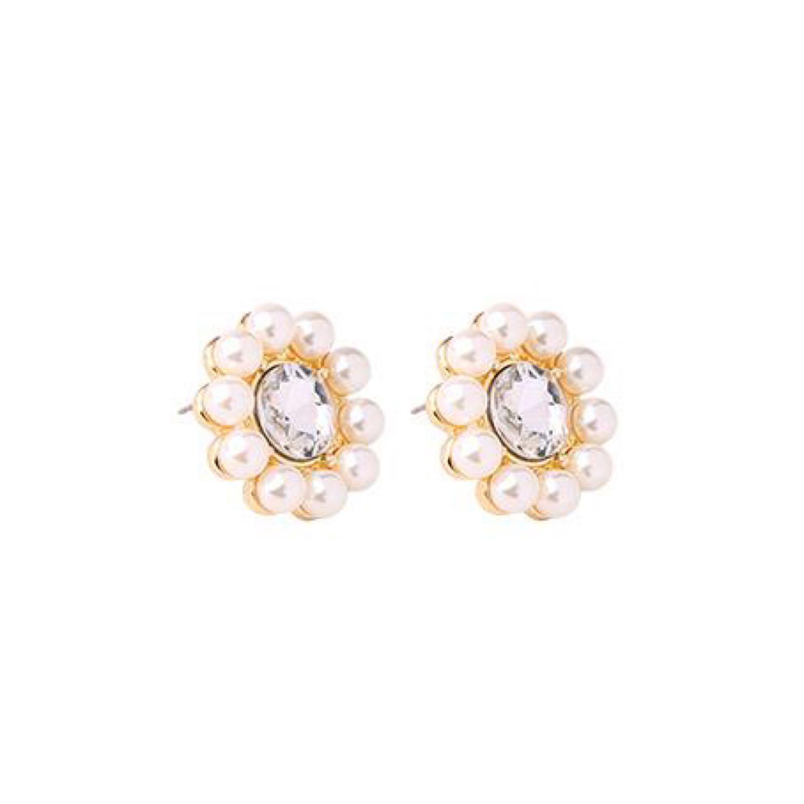 Last true angel crystal and pearl earrings