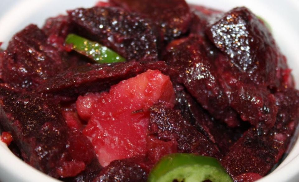 Beetroot and potatoes