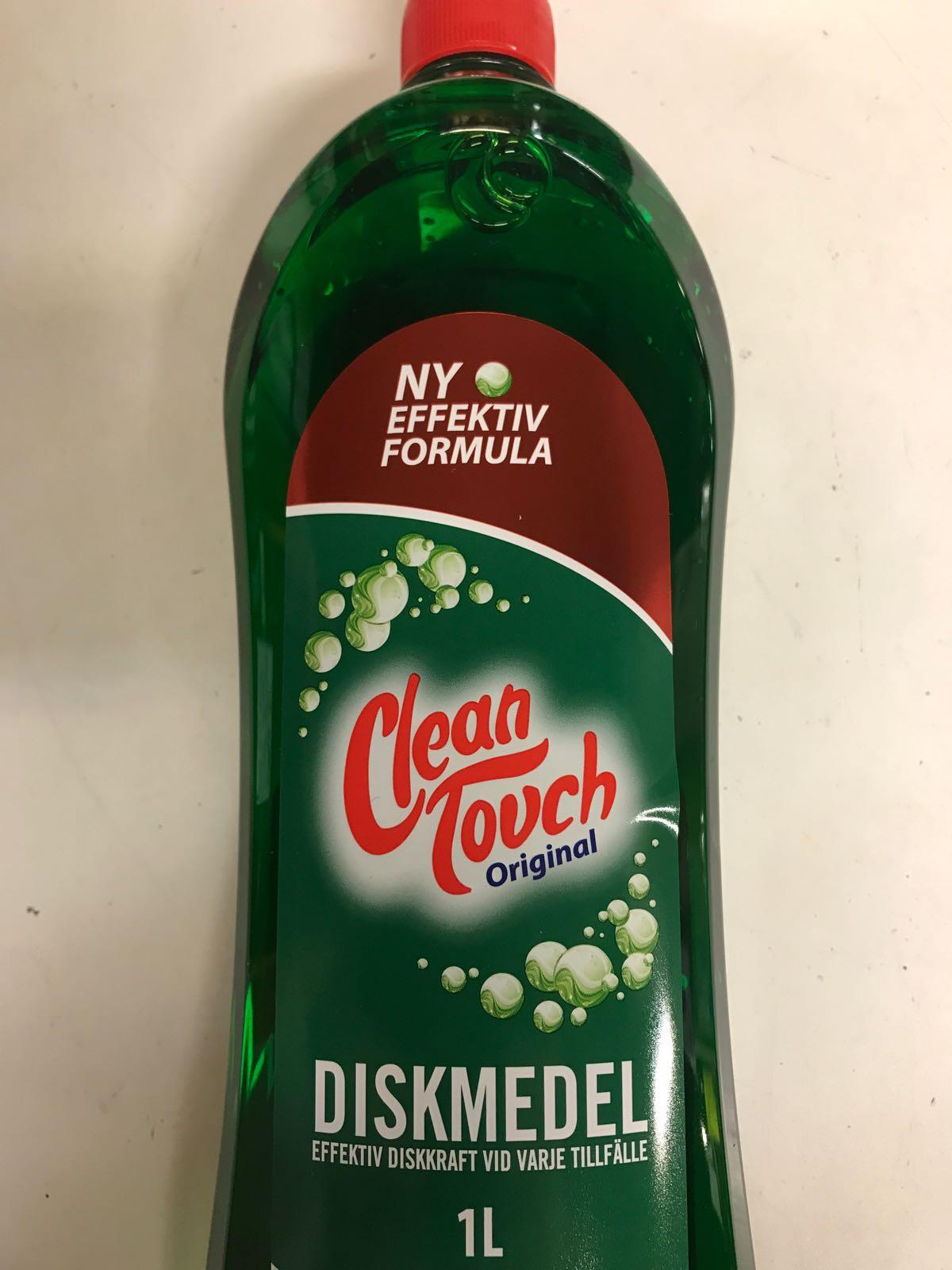 """Diskmedel """"Clean touch"""" grön Original 1L"""