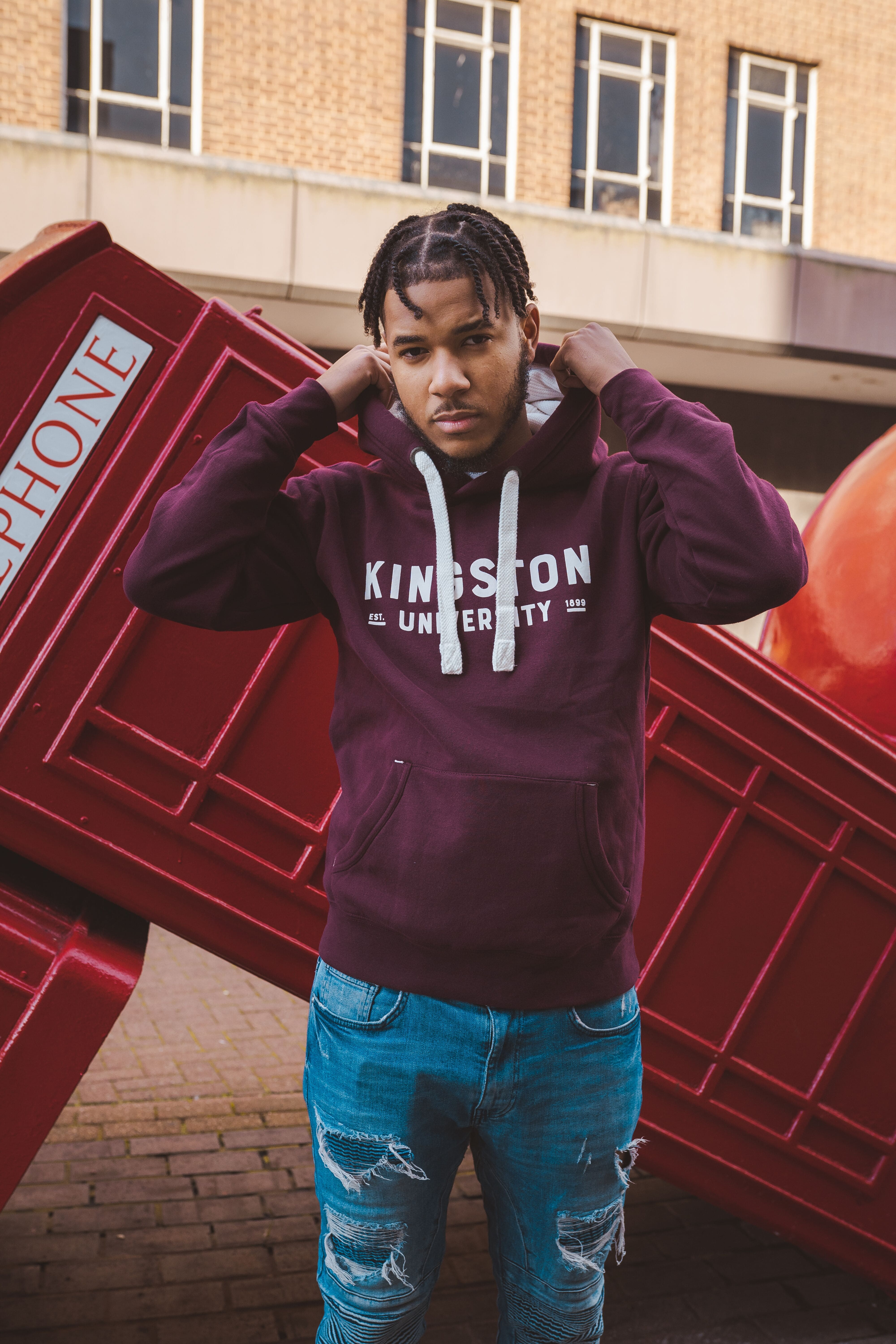 New Thicc Pullover Hoodie | Maroon