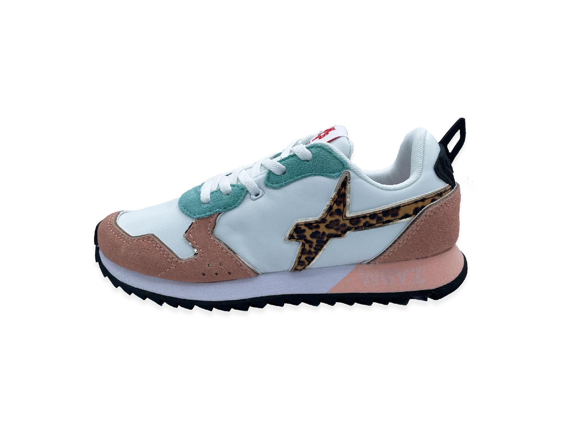 W6YZ JET Weiß/Mint Leo Sneaker