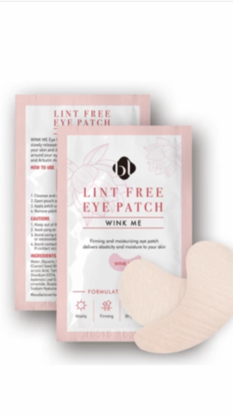 Lady Lash Extensions Lint Free Eye Patch, ohut pinkki 5 paria
