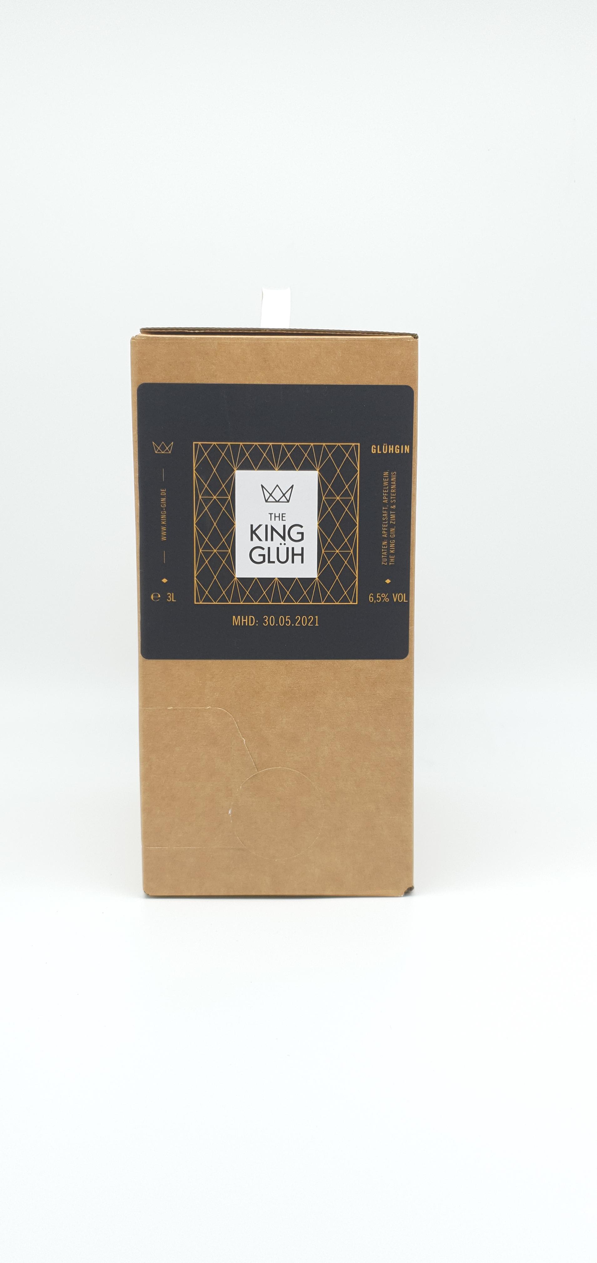 "THE KING GLÜH GIN 7%VOL 3000ml ""Bag-in-Box"""
