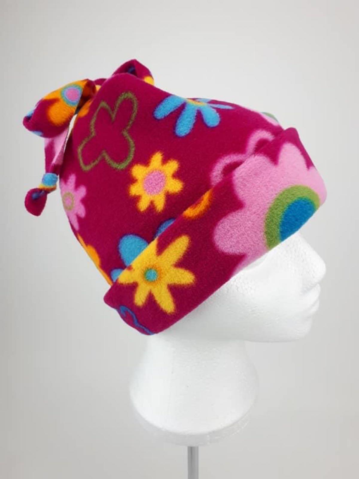 Cerise Daisy Hat