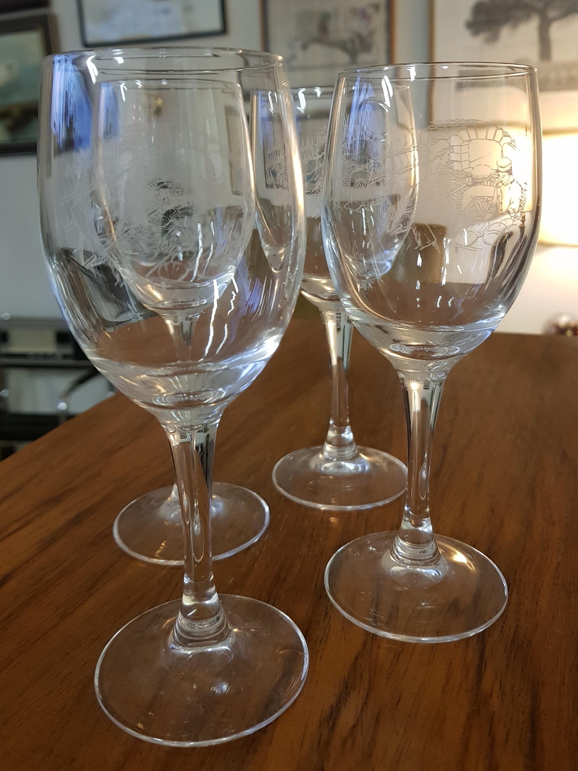 Retro viinilasit