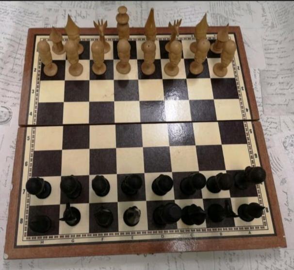 shakki / backgammon pelilauta, afrikkalainen
