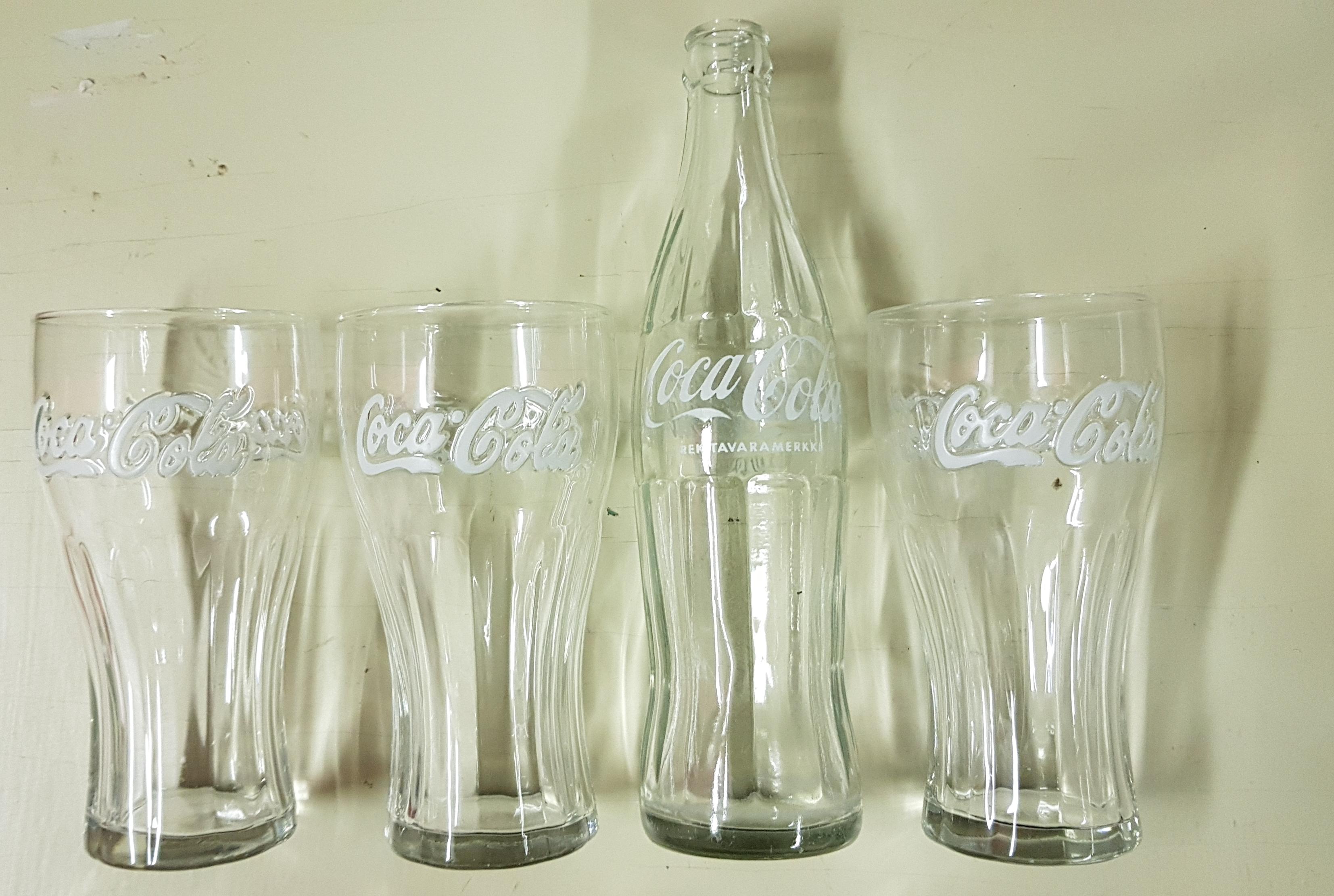 Coca-cola LASIT (3kpl) ja pullo
