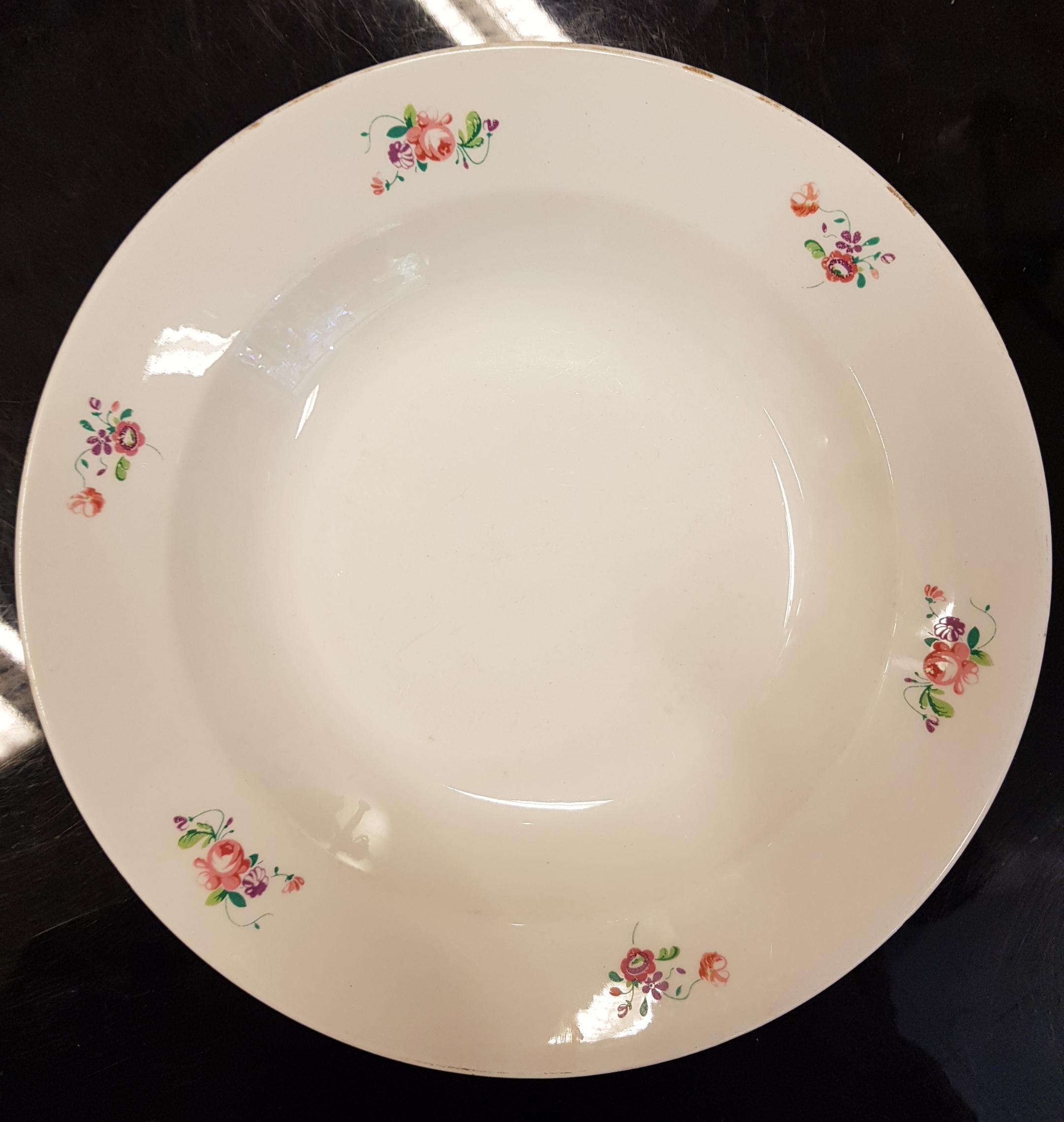 Arabian kukkakuvioiset syvät lautaset 6kpl