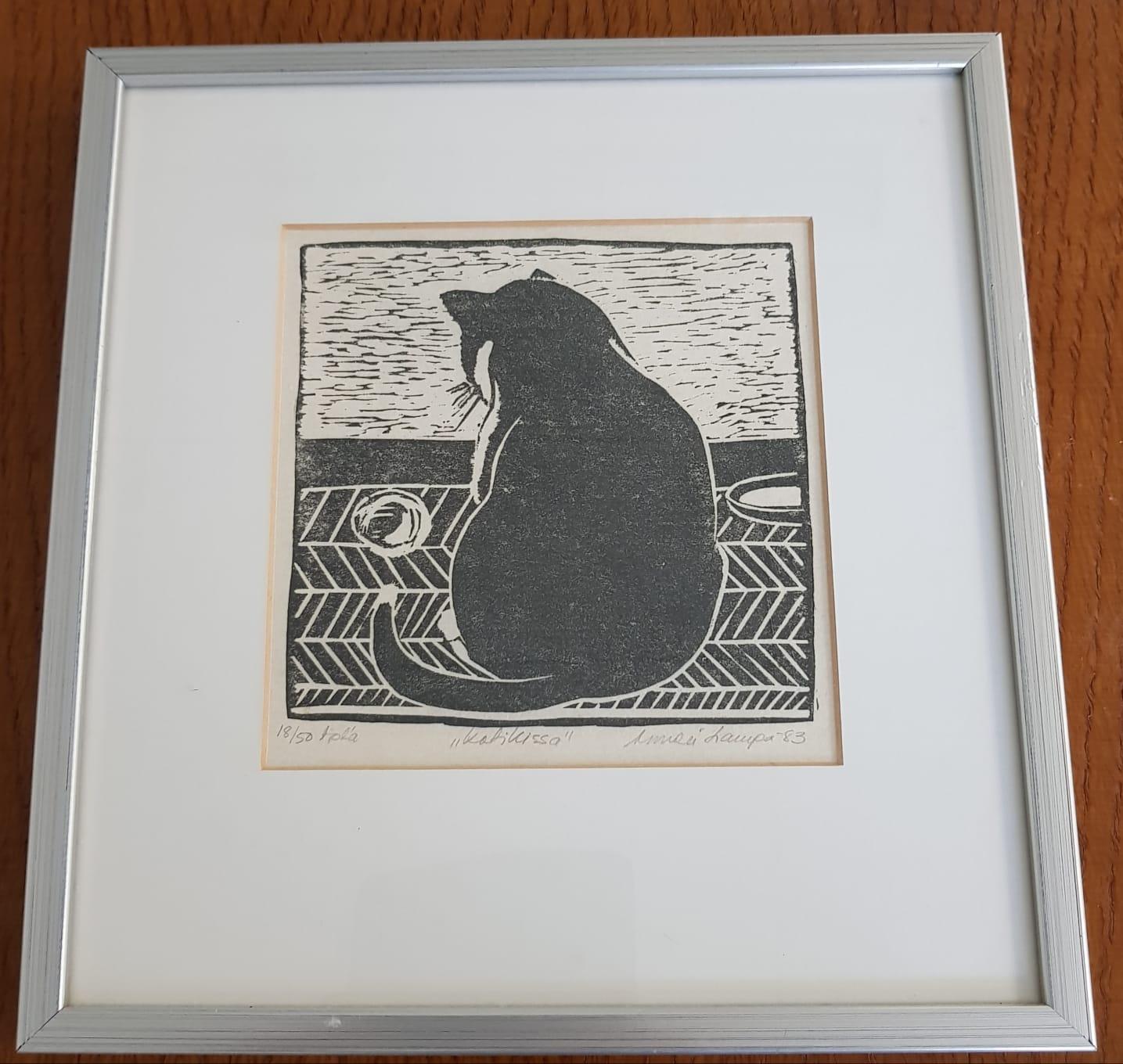 """Kaunis pikku taulu, """"kotikissa"""" 1983"""