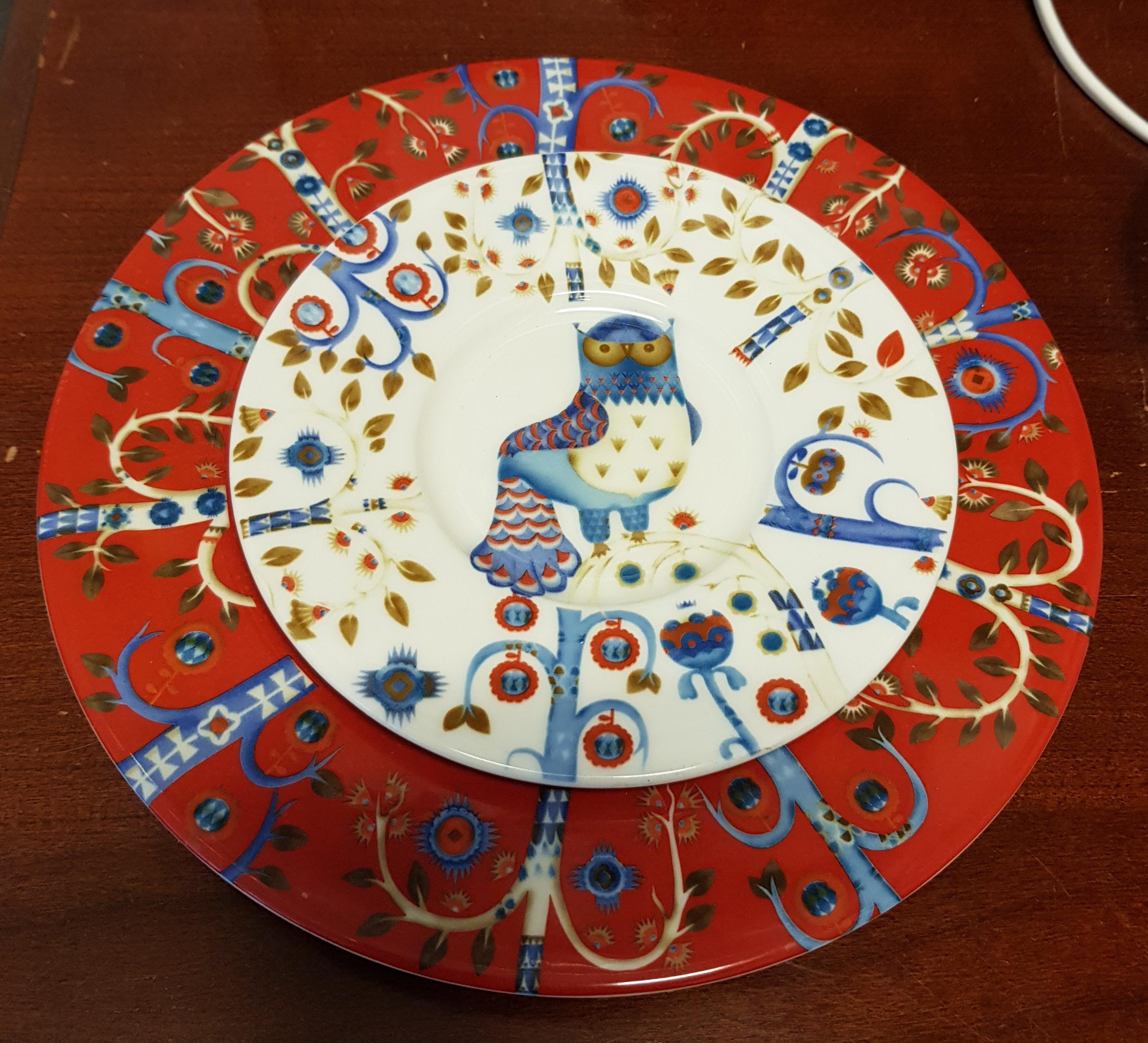 Arabia taika lautaset 2 kpl