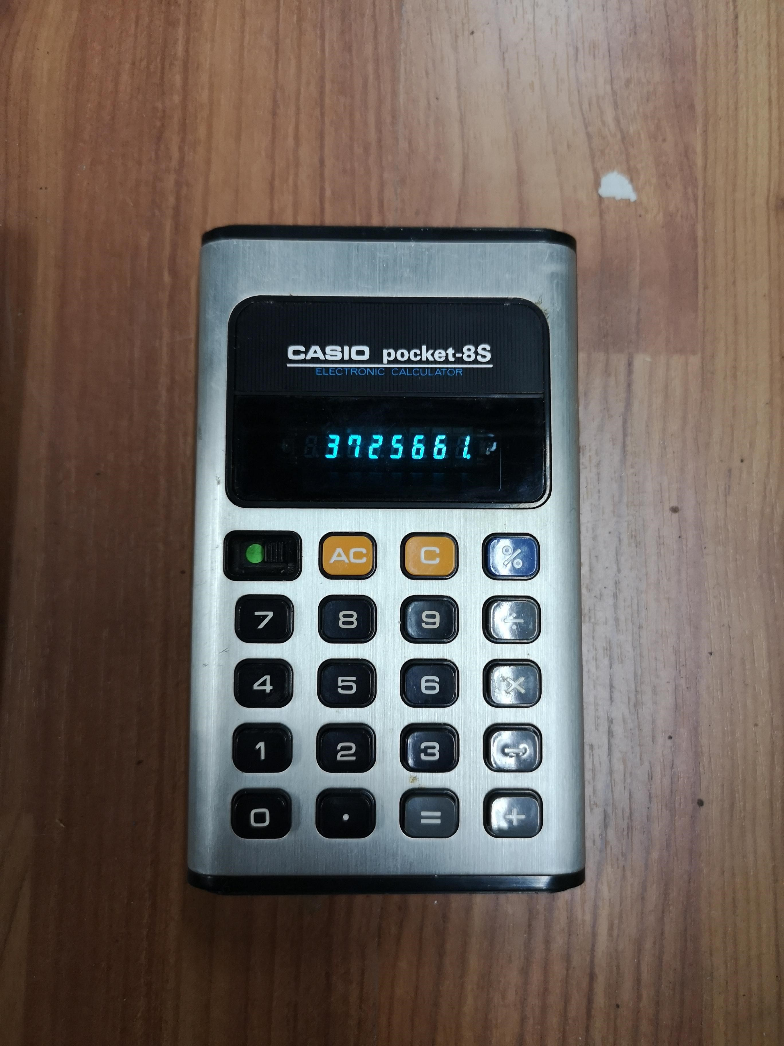 Casio pocket 8s taskulaskin