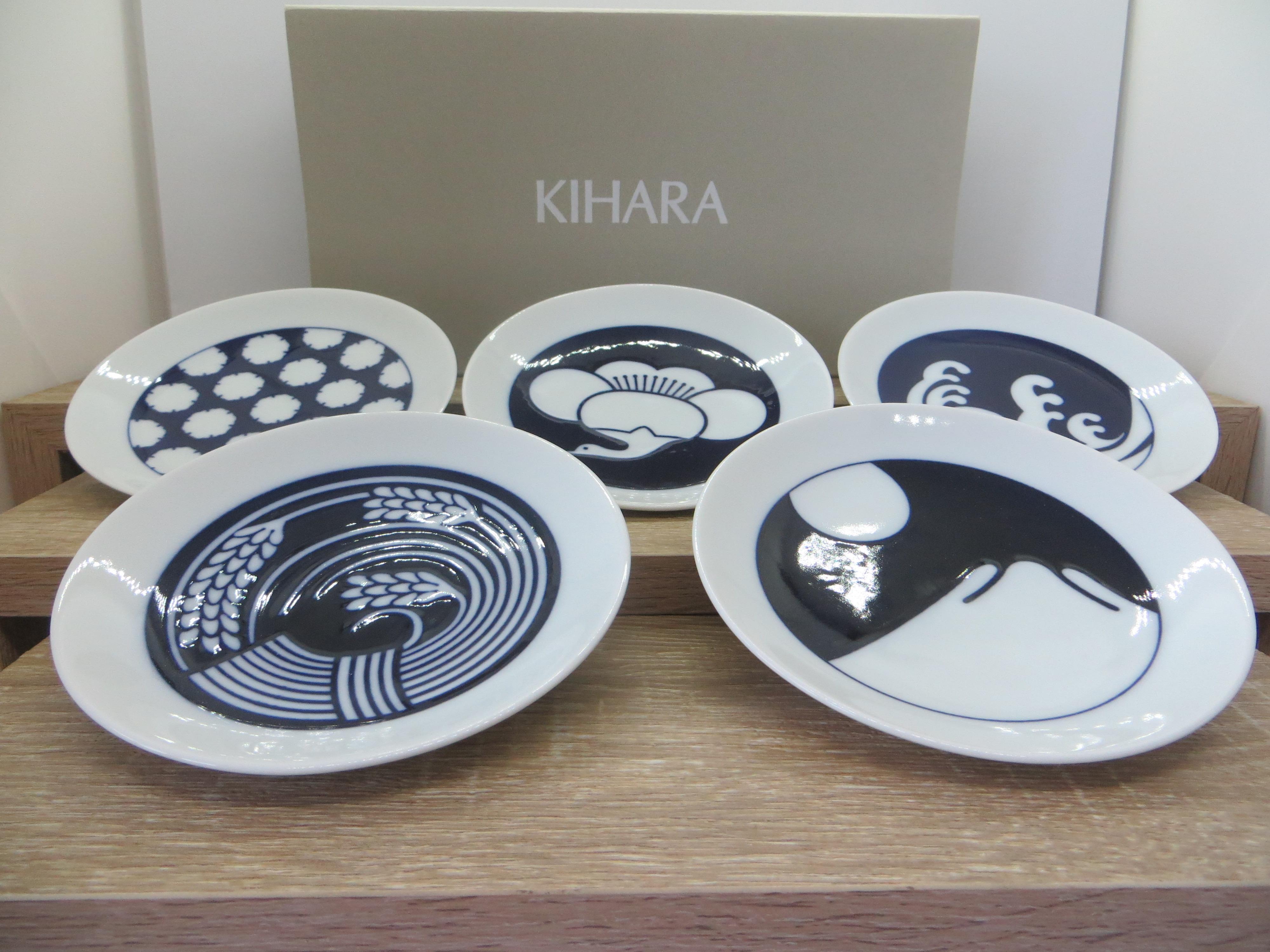 KIHARA Komon Mame Dish Set (5 pieces)