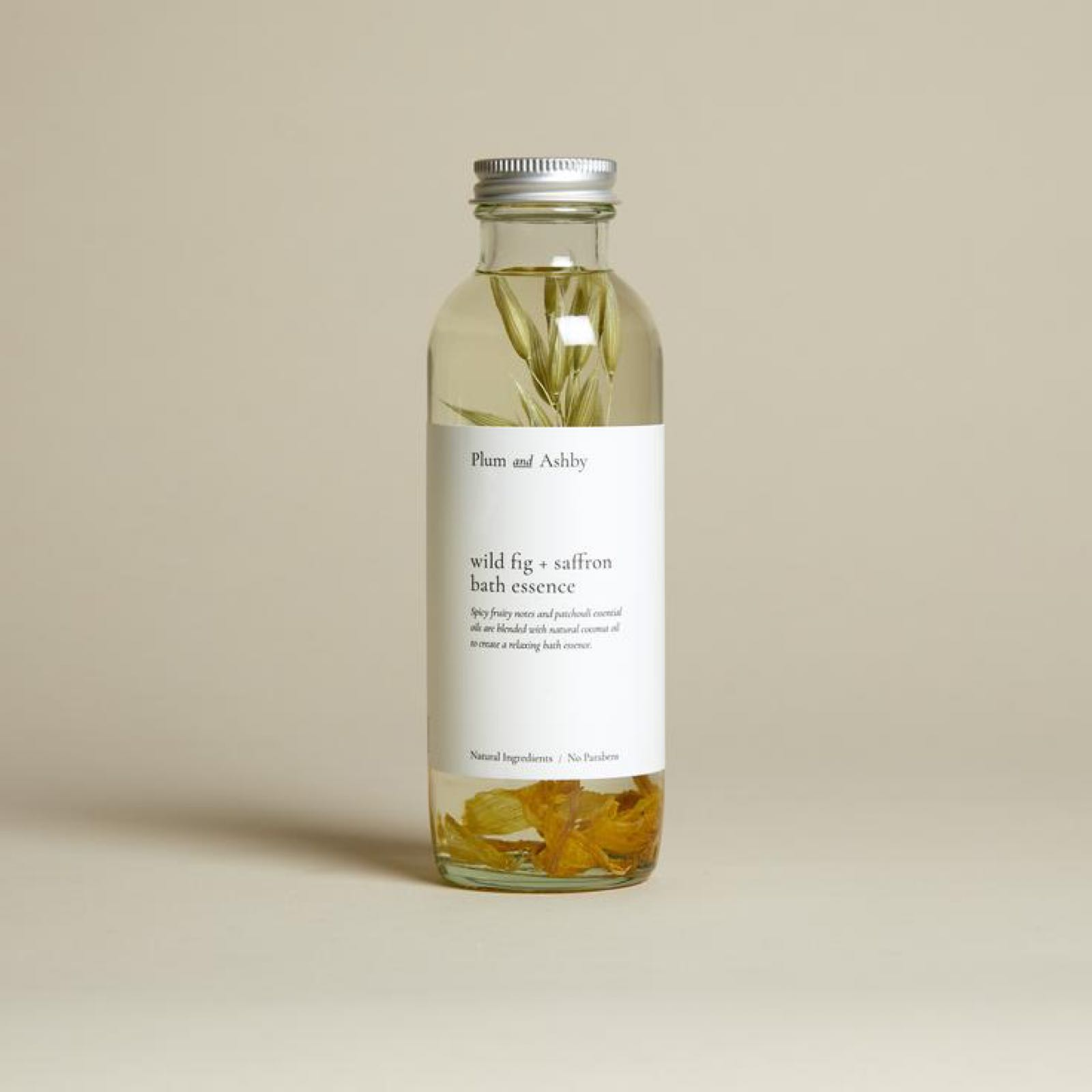 Plum & Ashby Wild Fig & Saffron Bath Essence 225ml made with Natural Oils for a Luxurious Bath