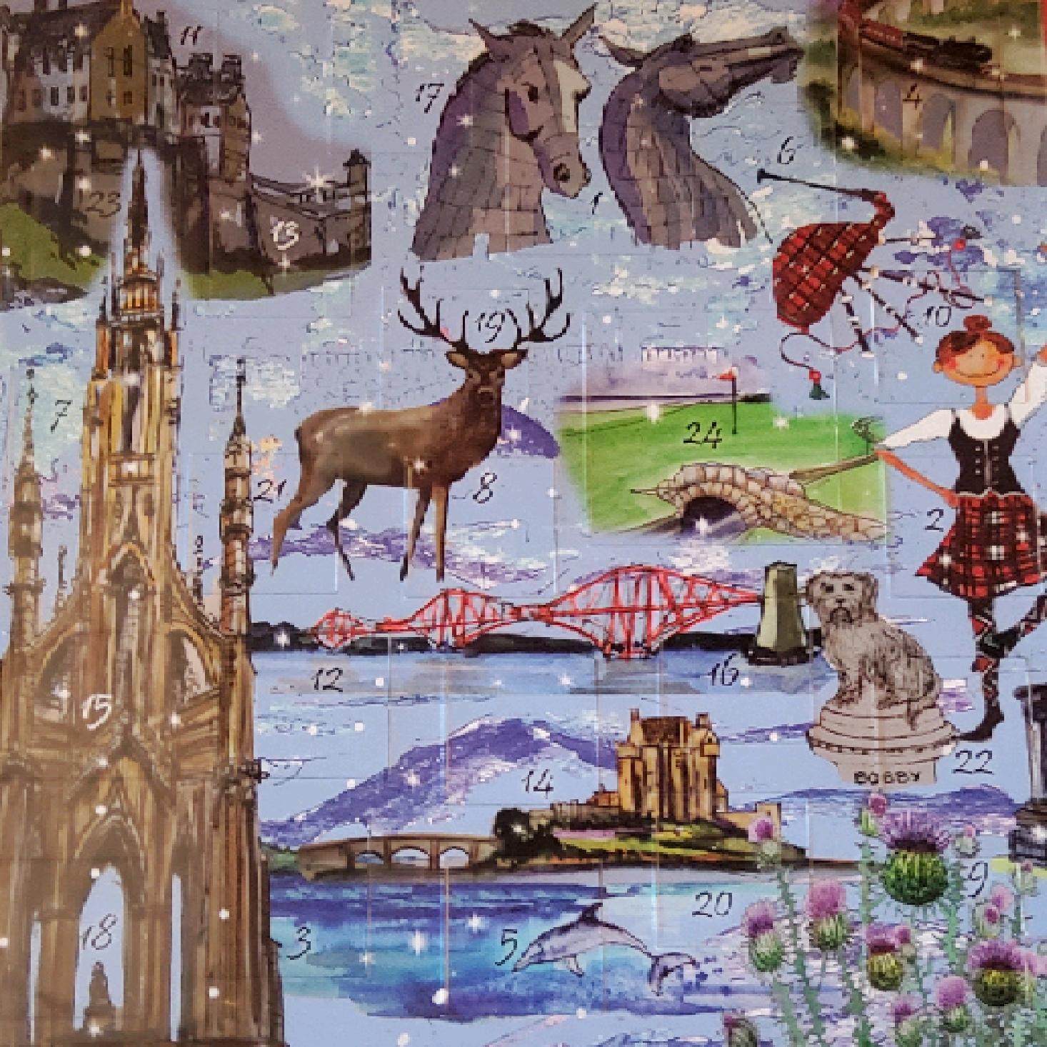 Advent Card Calendar - Bonnie Scotland