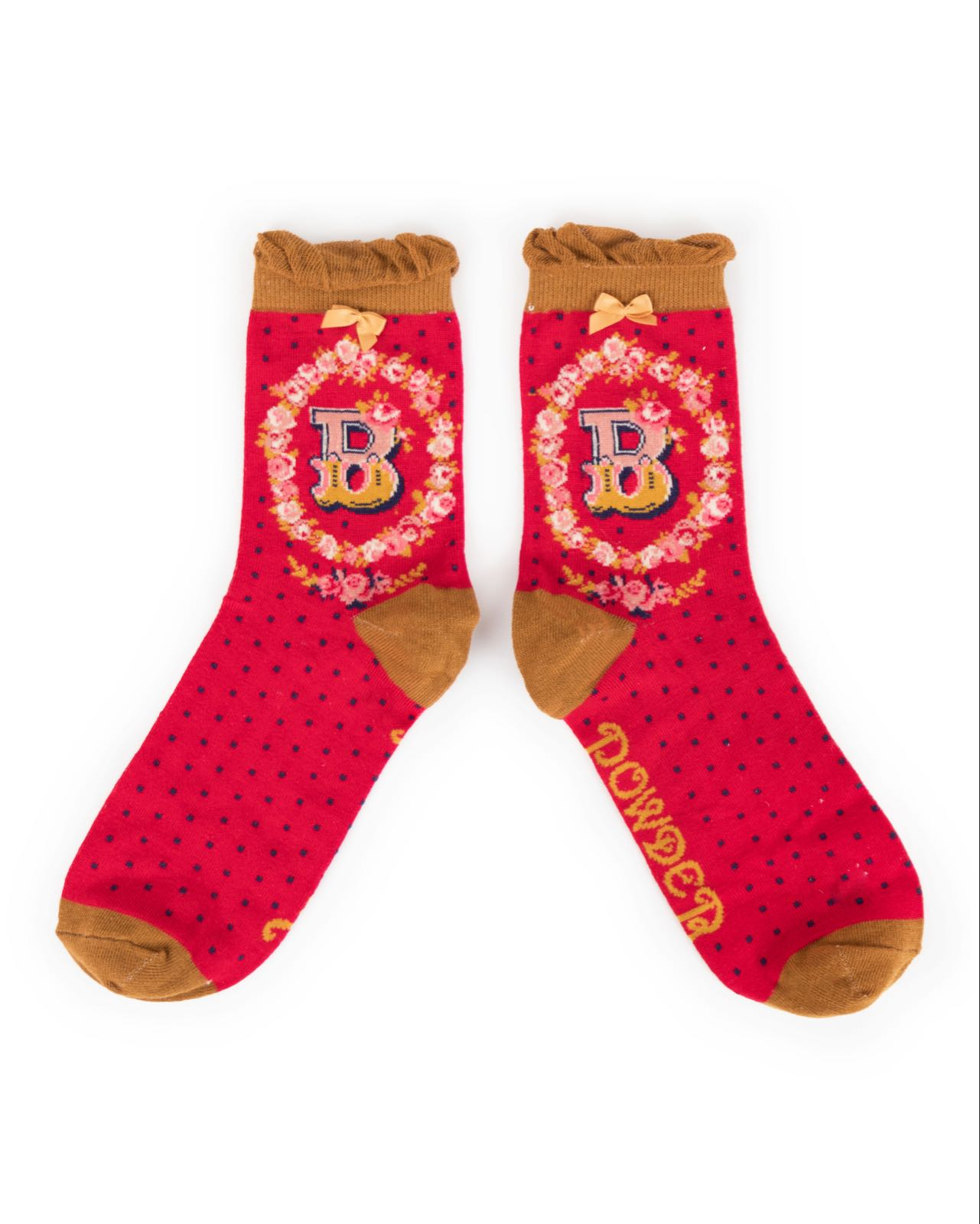 Powder Alphabet socks B (product may differ from item shown in the photo)