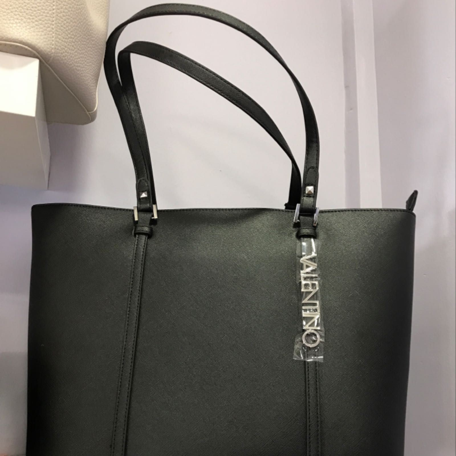 Valentino Sea Winter Tote Bag Nero